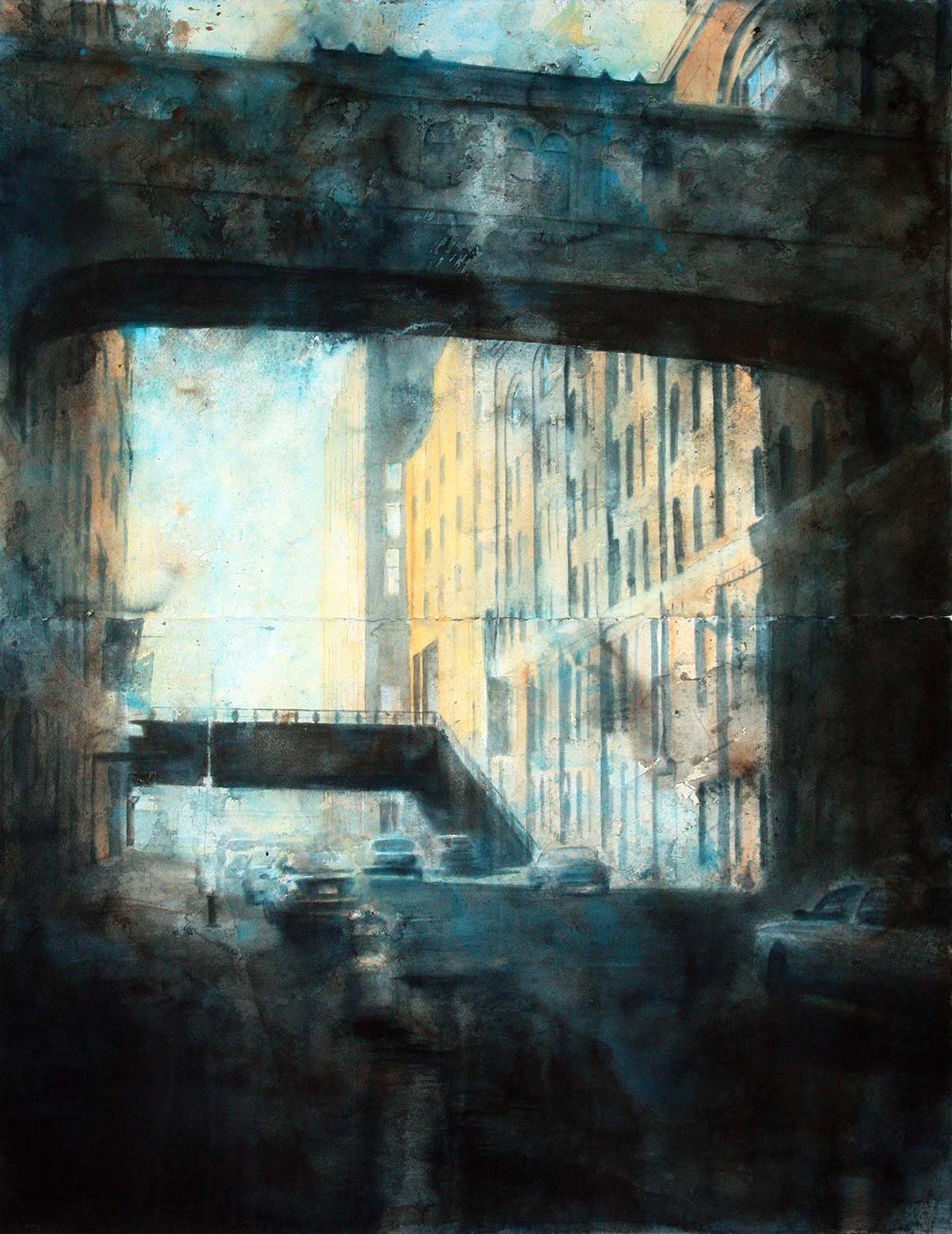 West 15th Street, Two Bridges (Diptych)