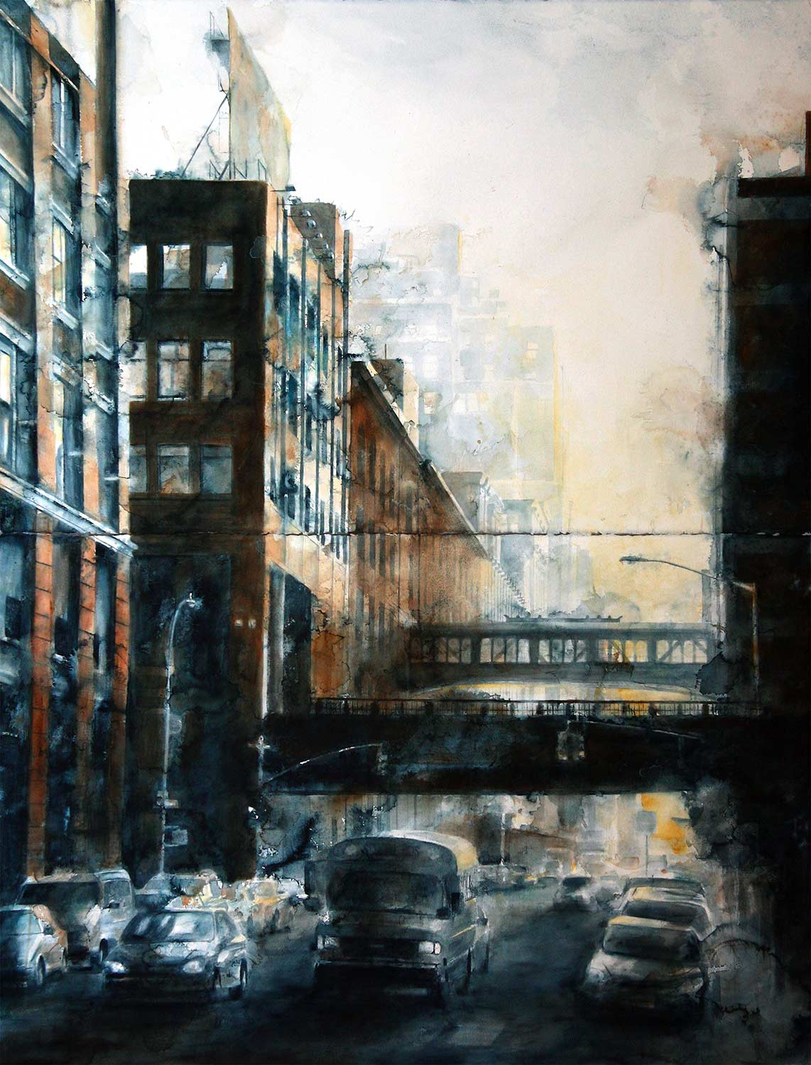 West 15th Street, morning (Diptych)