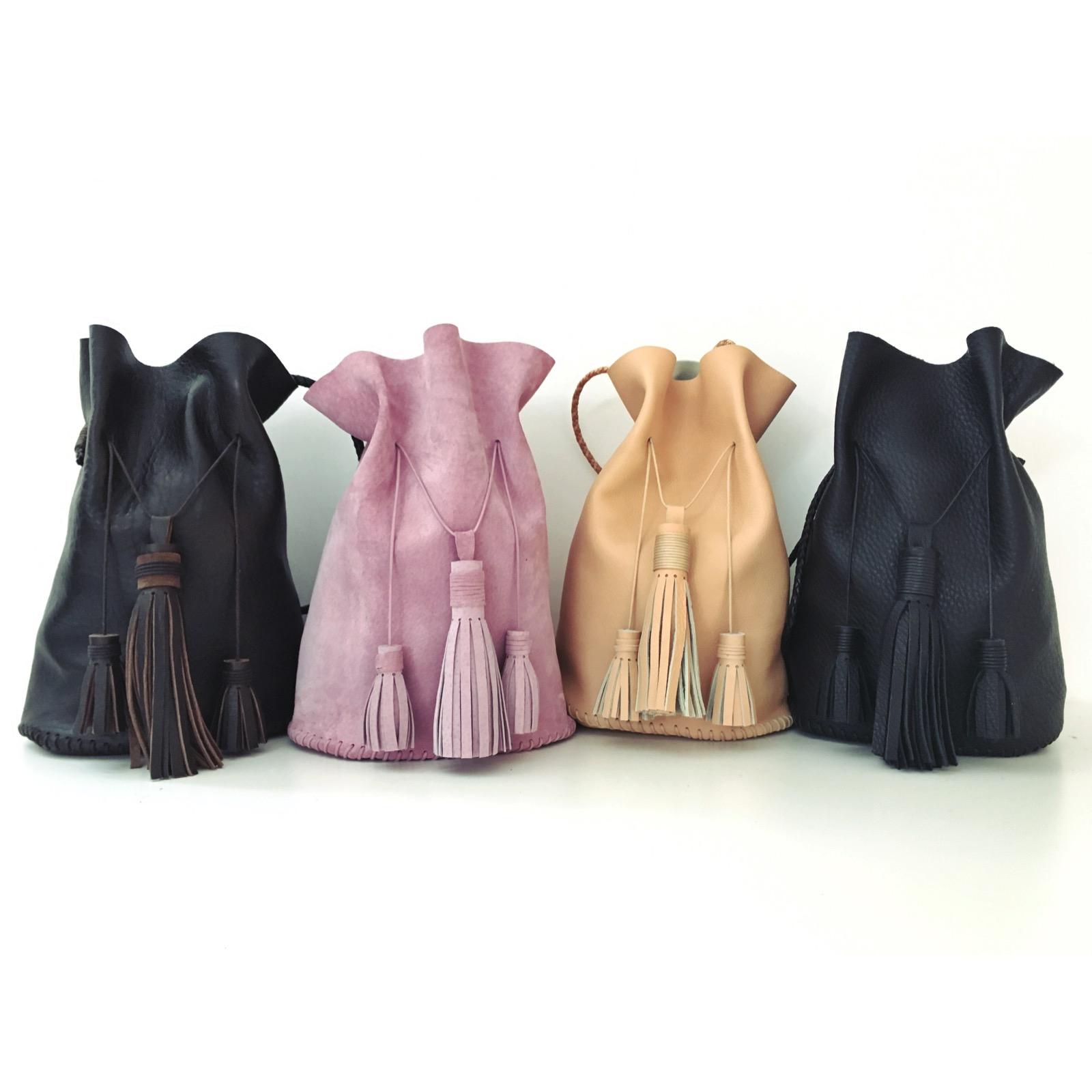 AIDA LEATHER BUCKET BAG  WHOLESALE $275  SRP $375