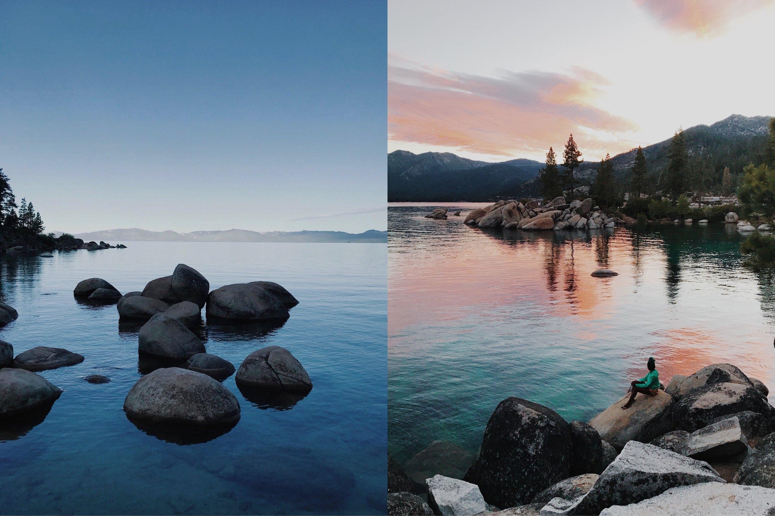 lake tahoe does blue hour + sunrise gorgeously.