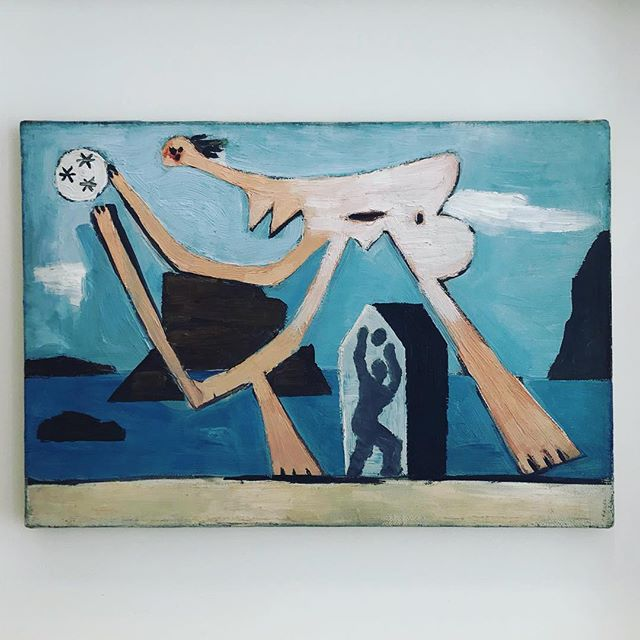 Spent the morning at the Picasso Museum in Paris. We saw the collection of Picasso's Picassos (the ones he kept) playing with a ball on the beach Dinard 1928. I love this. . . . #art #picasso #colour #paint #painting #paris