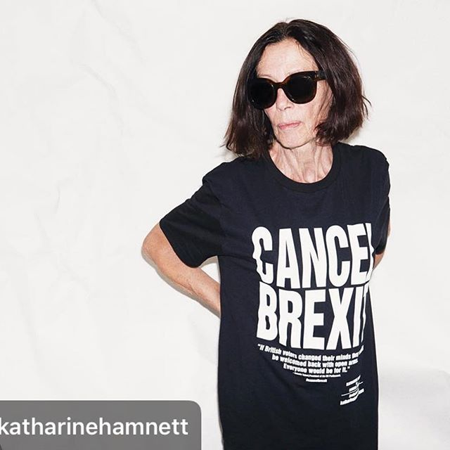C .A .N .C .E .L .... B .R .E .X .I .T . . . I have nothing else to say . .  Repost @katharinehamnett shot by @benjaminmcmahon. . .  #comeon #politics #fashion #thismatterstomuch #cancelbrexit
