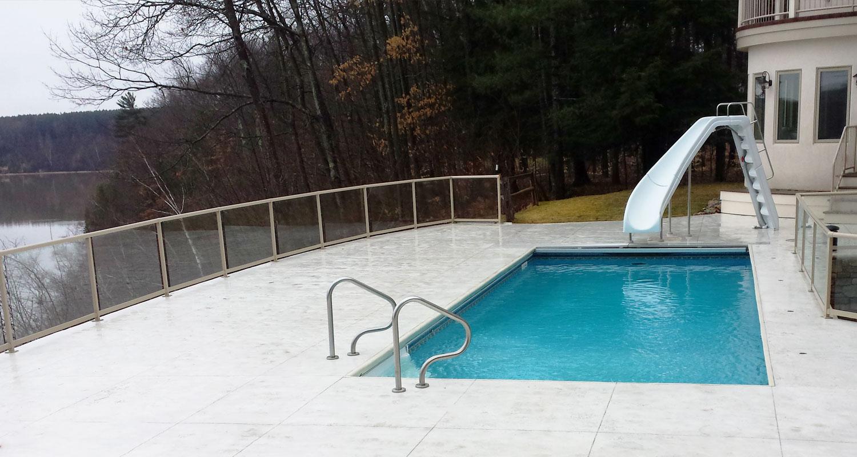 Backyard In ground pool installation