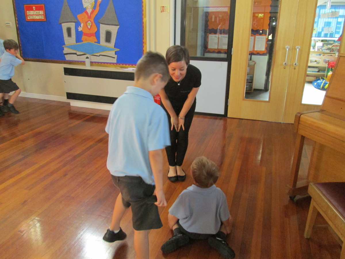 Pupils work together during sessions