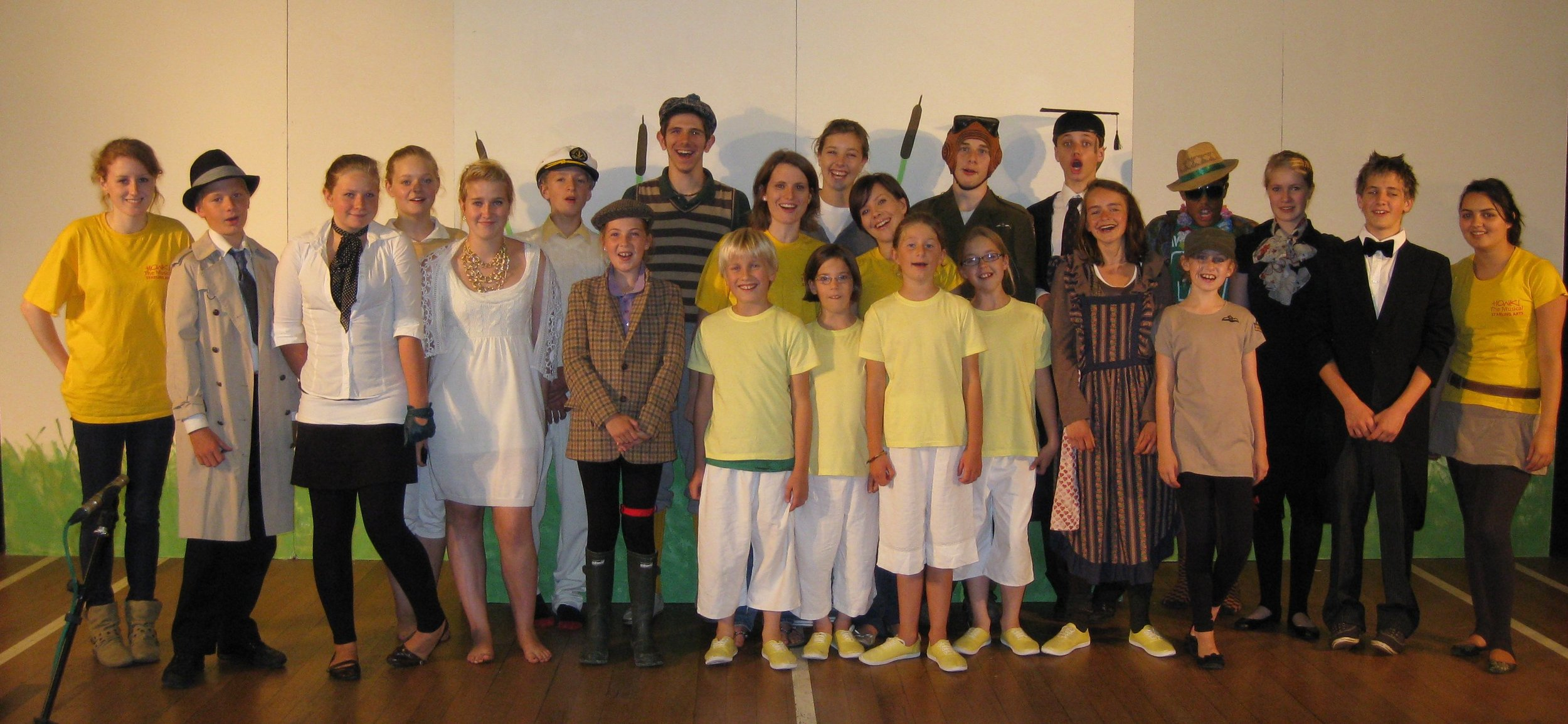 The cast & crew of Honk! in 2010