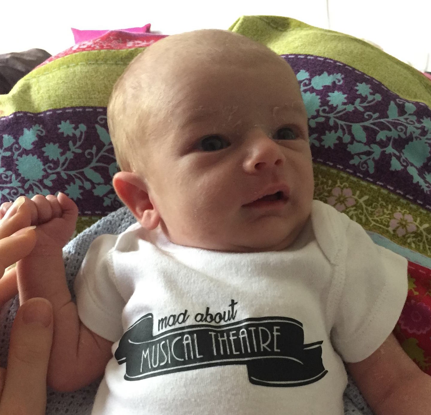 Mad about musical theatre: clearly Emily's son did love all that music he heard during pregnancy