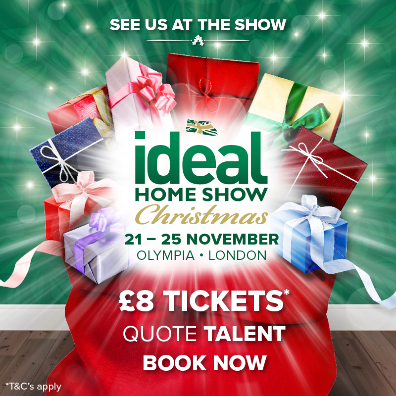 Live at the Ideal Home Show - On Saturday 24th November!