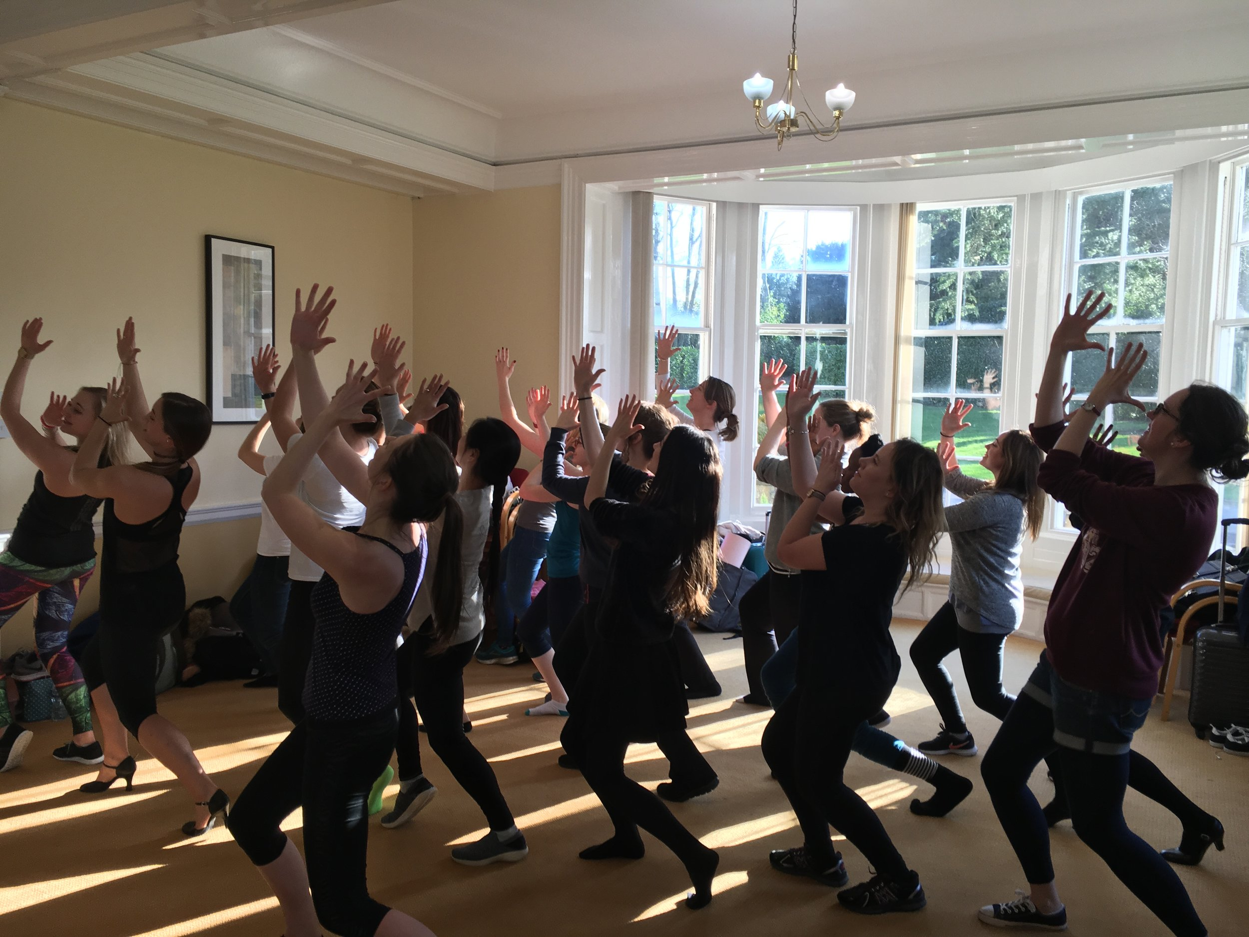 DANCE CLASS AT OUR 2018 AWAY WEEKEND
