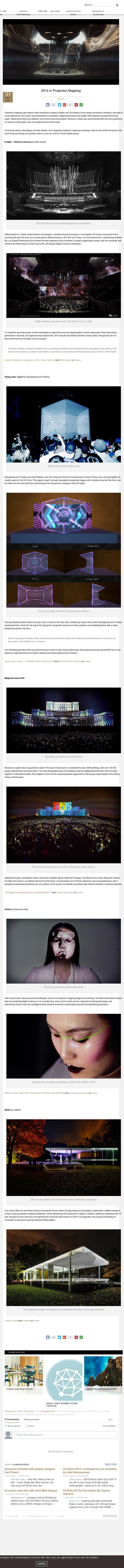 2014 in Projection Mapping