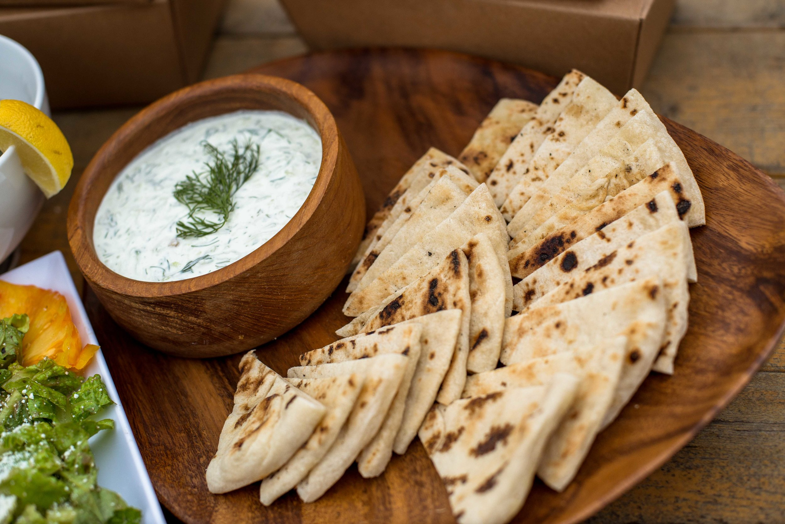 Pita and Spreads -