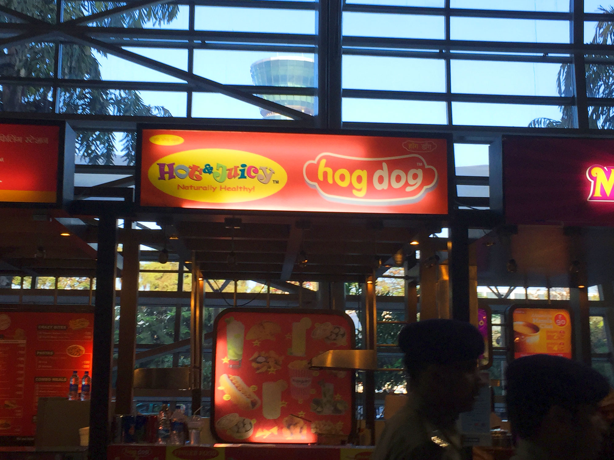 HogDog!  We steered clear of this Indian fast food joint.  A meal eaten at HogDog on a previous trip to India caused quite a problem to a few travelers, myself not included.
