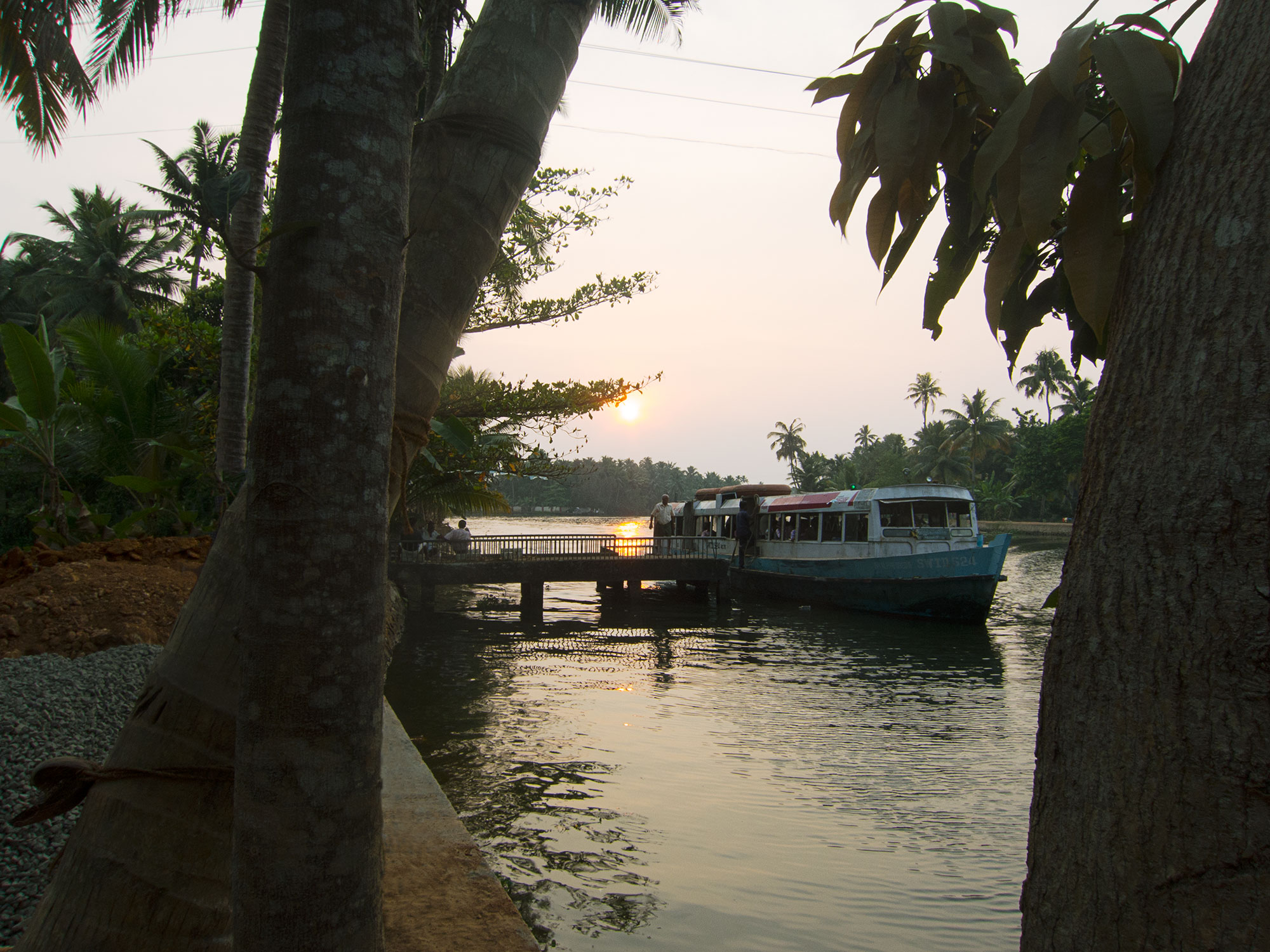 The neighboring dock to our boat.