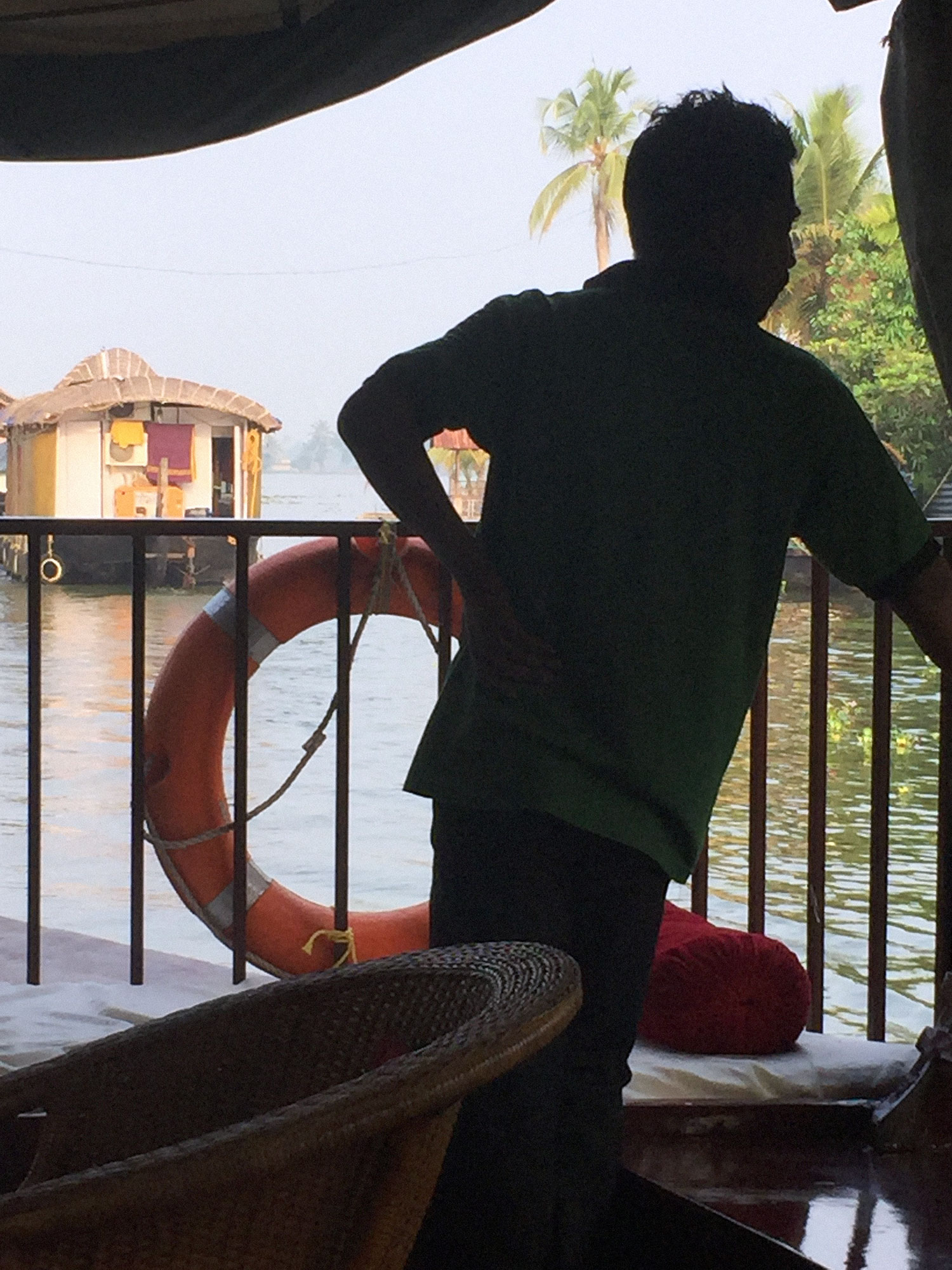 One of the three houseboat crew members.