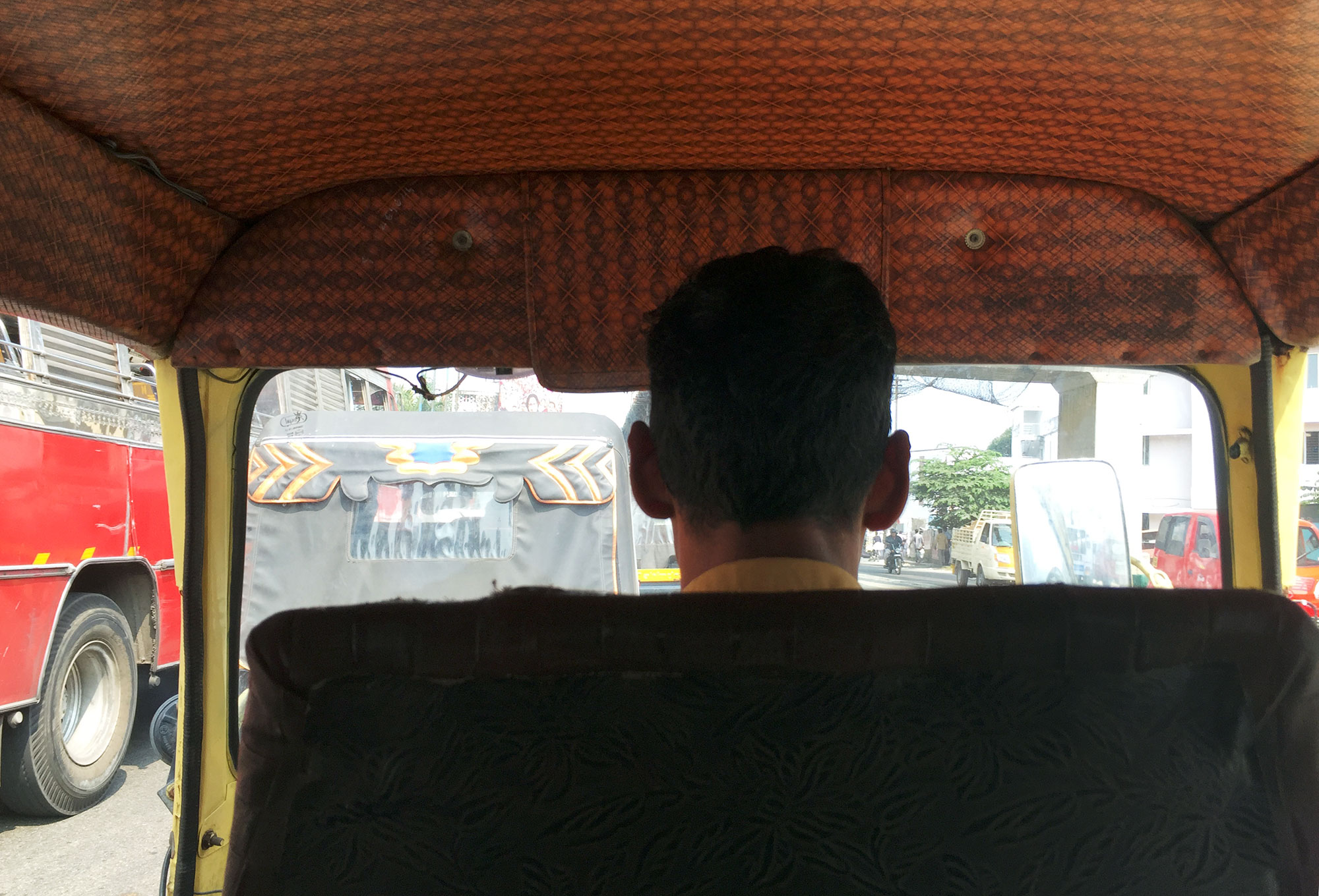 Tuk tuk and driver.  On the way to the Lulu Mall.