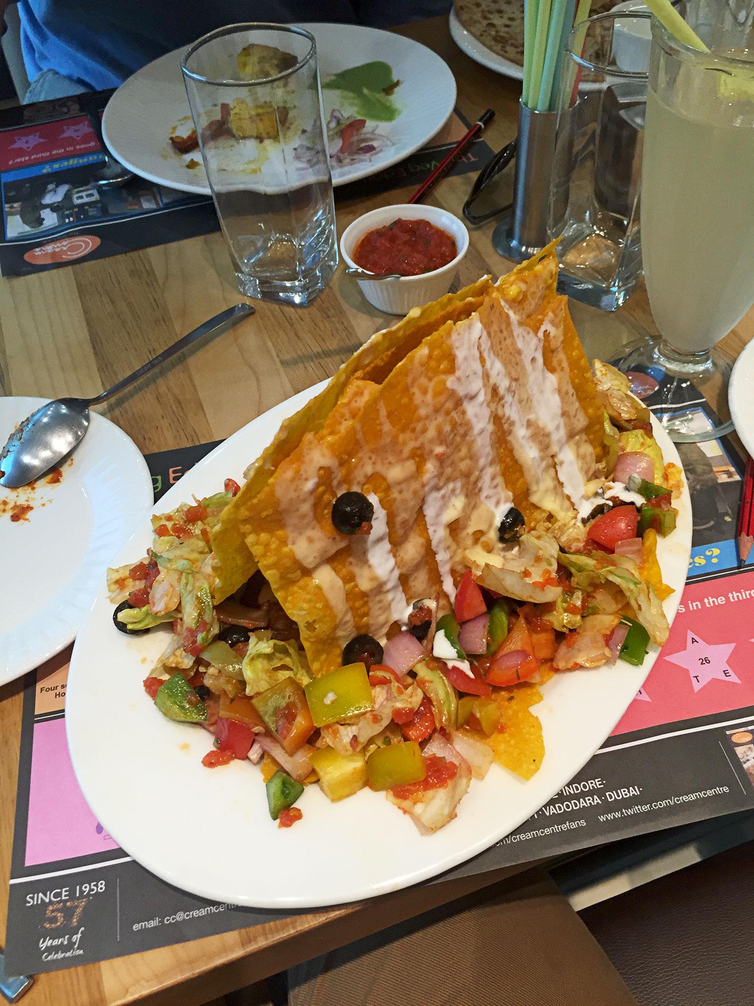 Indian nachos?  Hmmm....