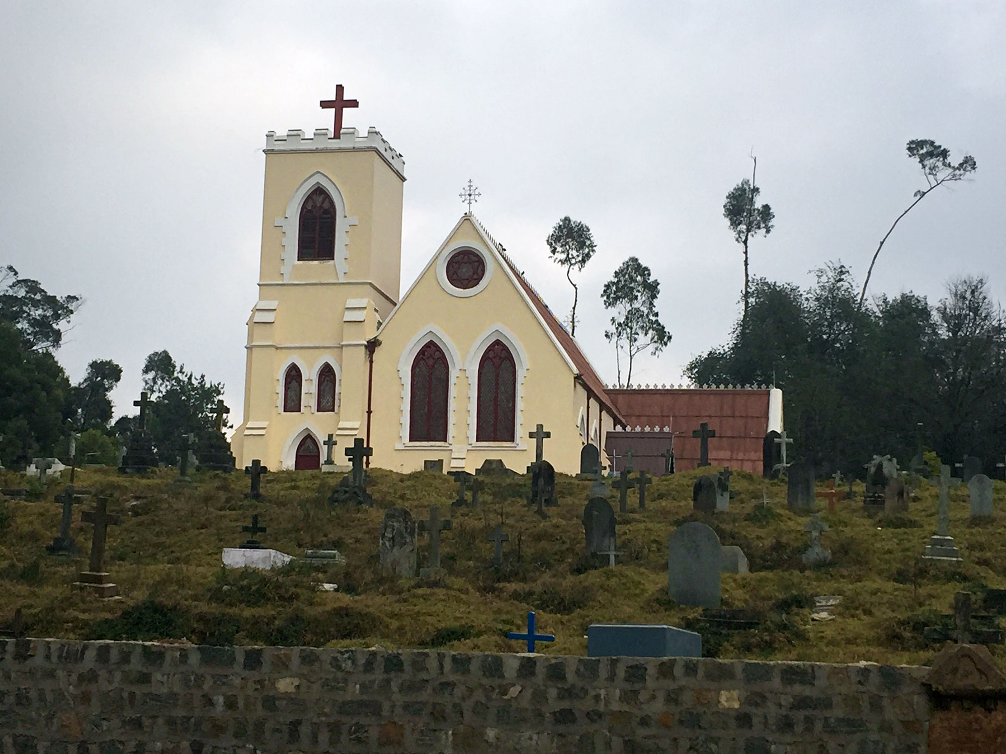 The 1870 St. Thomas church in Ooty.