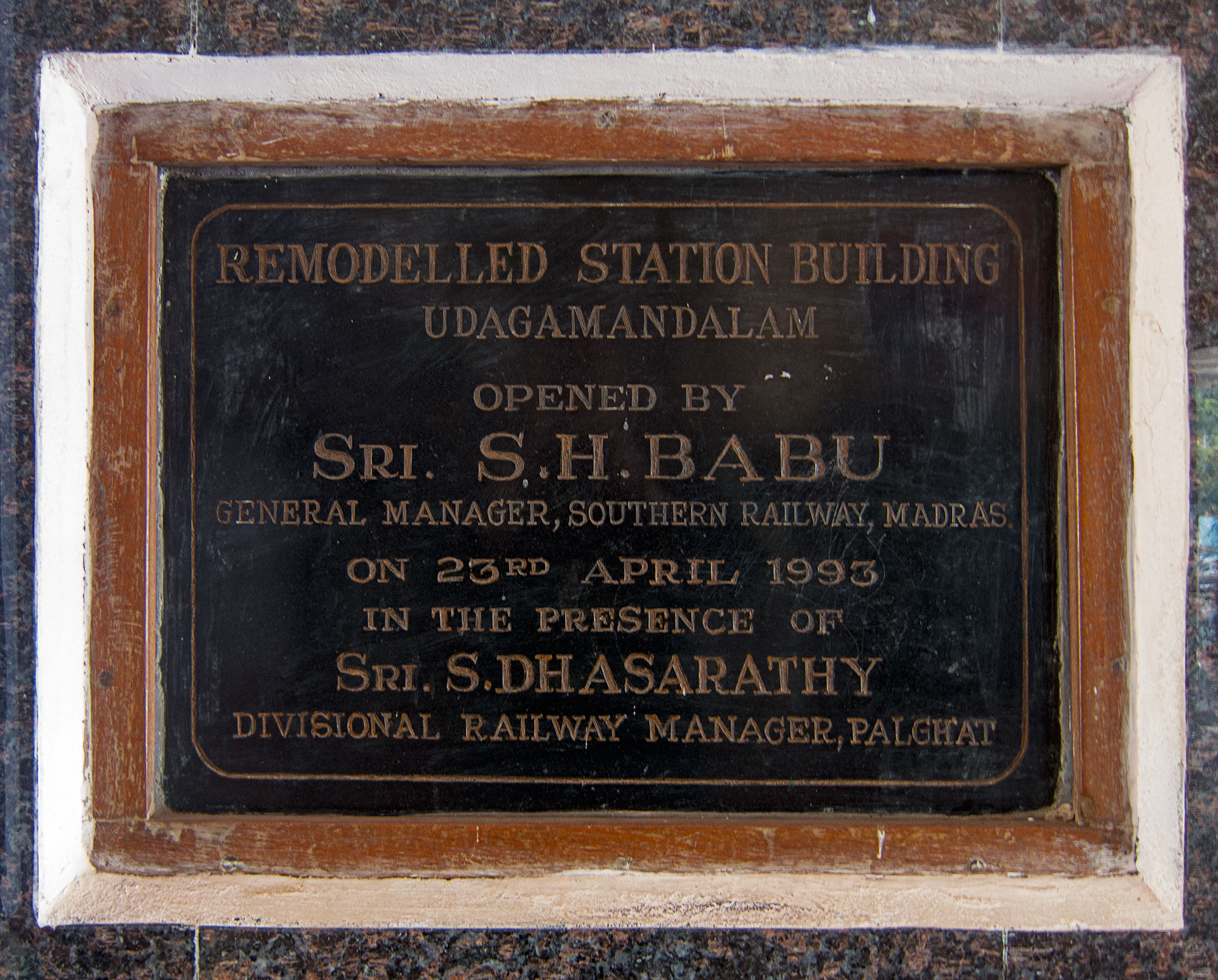 I wish I could see a photo of the station before Sri. S.H. Babu slapped a bunch of ugly granite all over it.