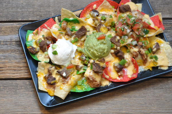 Steak or Chicken Ultimate Nachos