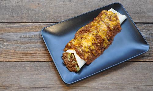 Smothered Burrito Chili Con Carne Sauce