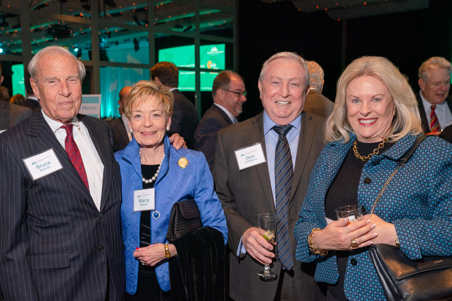 Bruce and Marcy Benson; Don Childears, Colorado Bankers Association, and Linda Childears, Daniels Fund