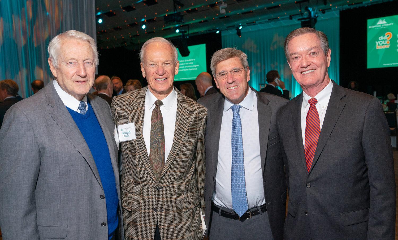 Hank Brown, Ralph Nagel, keynote speaker Steve Moore, Heritage Foundation Economist and former economics writer of The Wall Street Journal, Governor Bill Owens