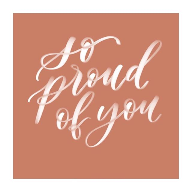 Sometimes I think about all the people who rarely or never hear this. I think about the damage that can and does cause, I think about the heaviness our hearts carry because of words unspoken. . . I'm so proud of you. For whatever you did today that was kind or brave. However big or small. I'm so proud of you. 💖