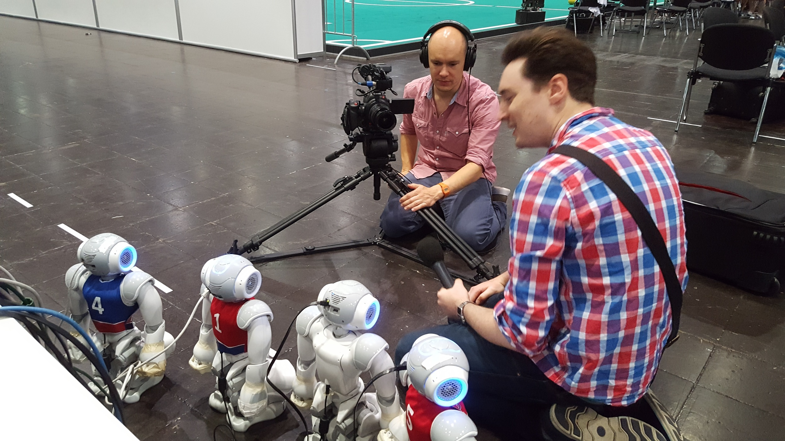 Our robots getting 'interviewed' by CNET