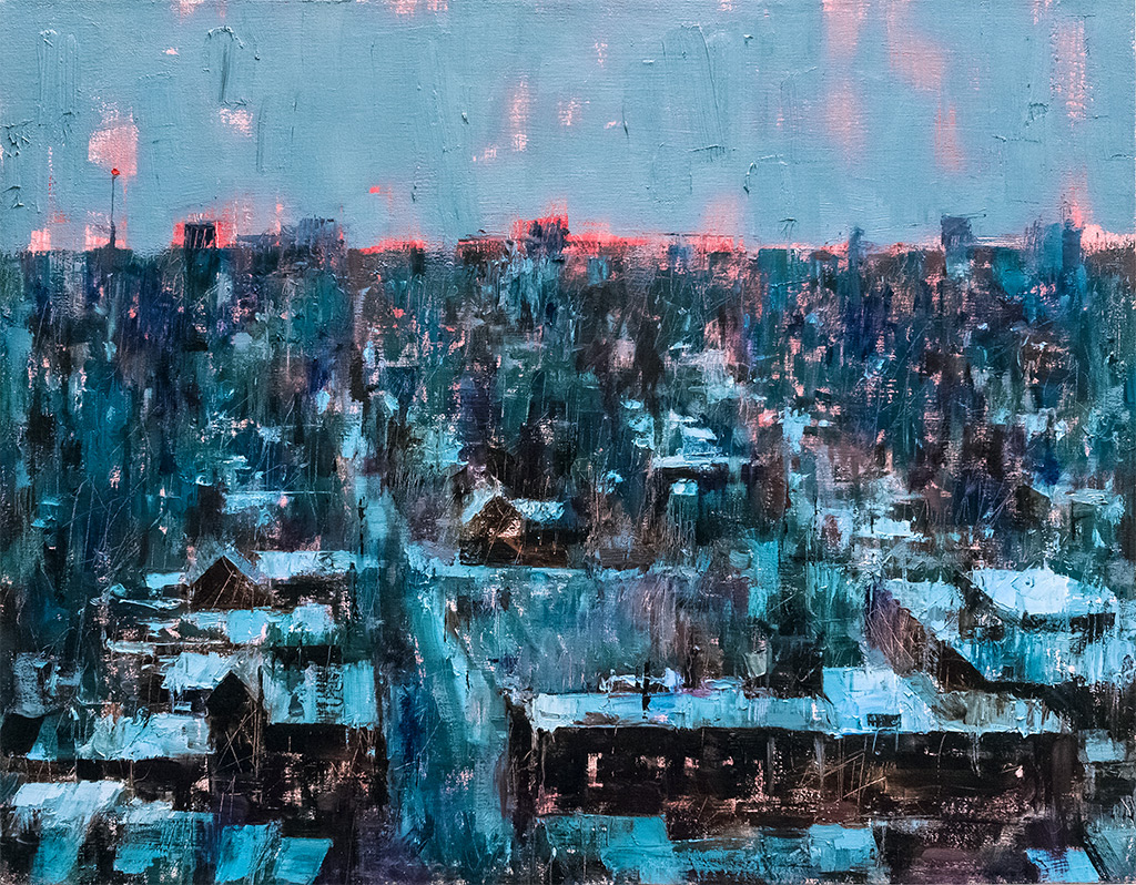 Beacon  2018. Oil on canvas, 71 × 55.9 cm (28 × 22 inches) Private Collection.