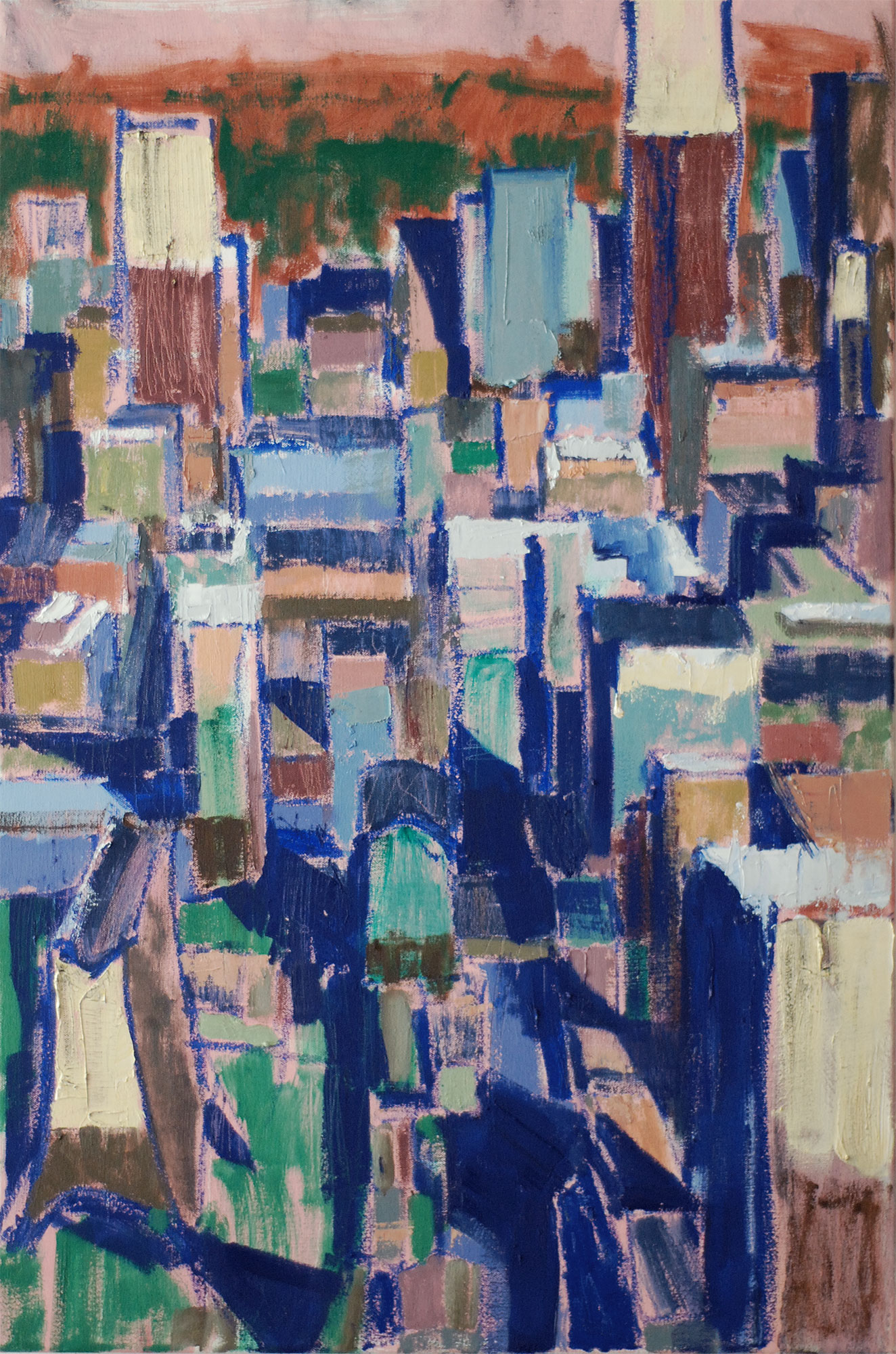 Yorkville, 2019. 36 x 24 inches. Oil on canvas. (Framed, Wired for hanging) $1400