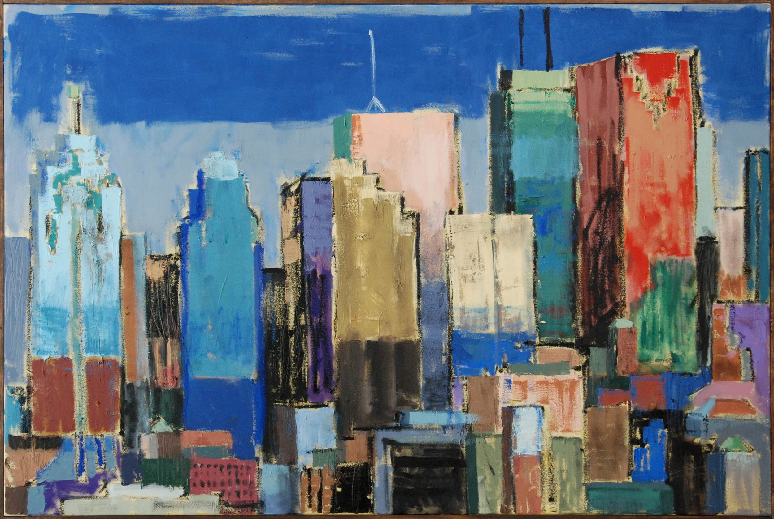 Skyline East, 2019. 48 x 32 inches, oil on canvas.