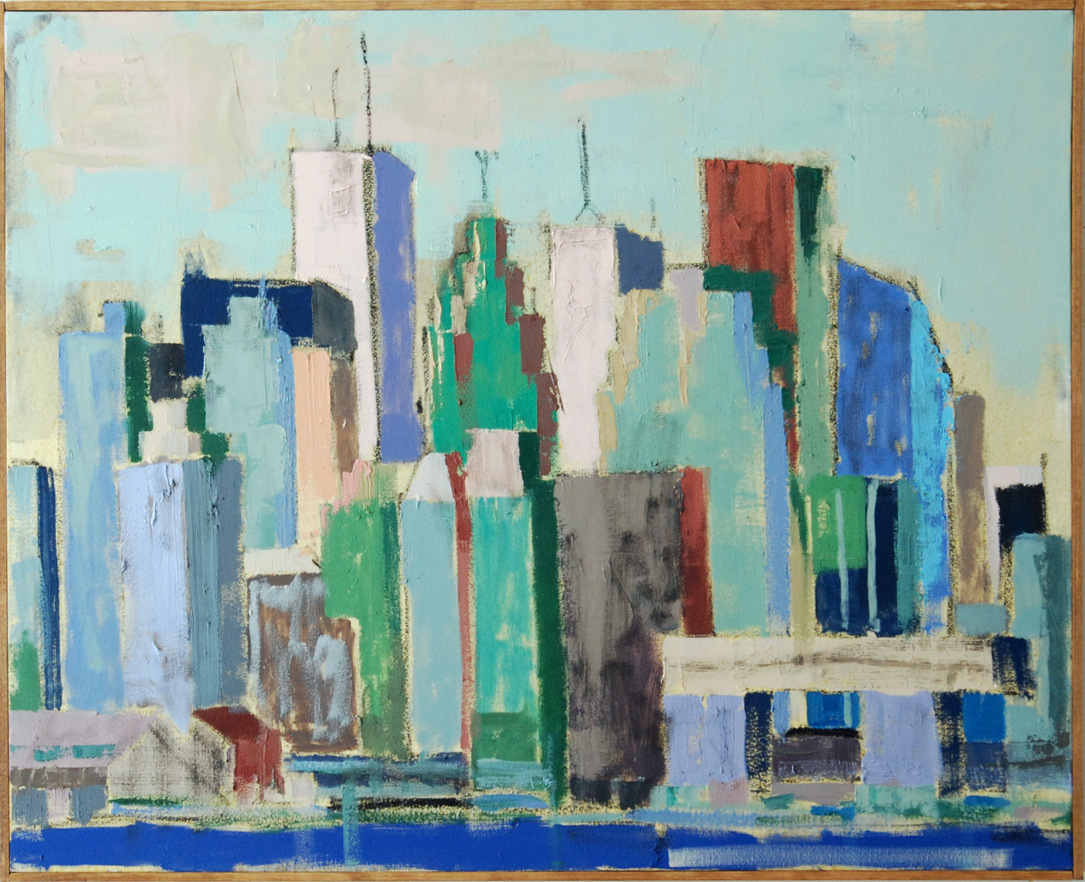Skylne South, 2019. 30.75 x 24.5 inches, oil on canvas. Private Collection.