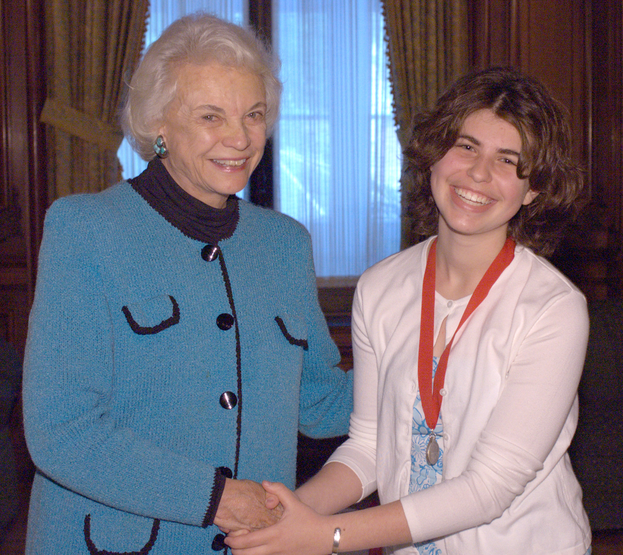 Sandra Day O'Connor with Legacy Winner Hillary Edwards