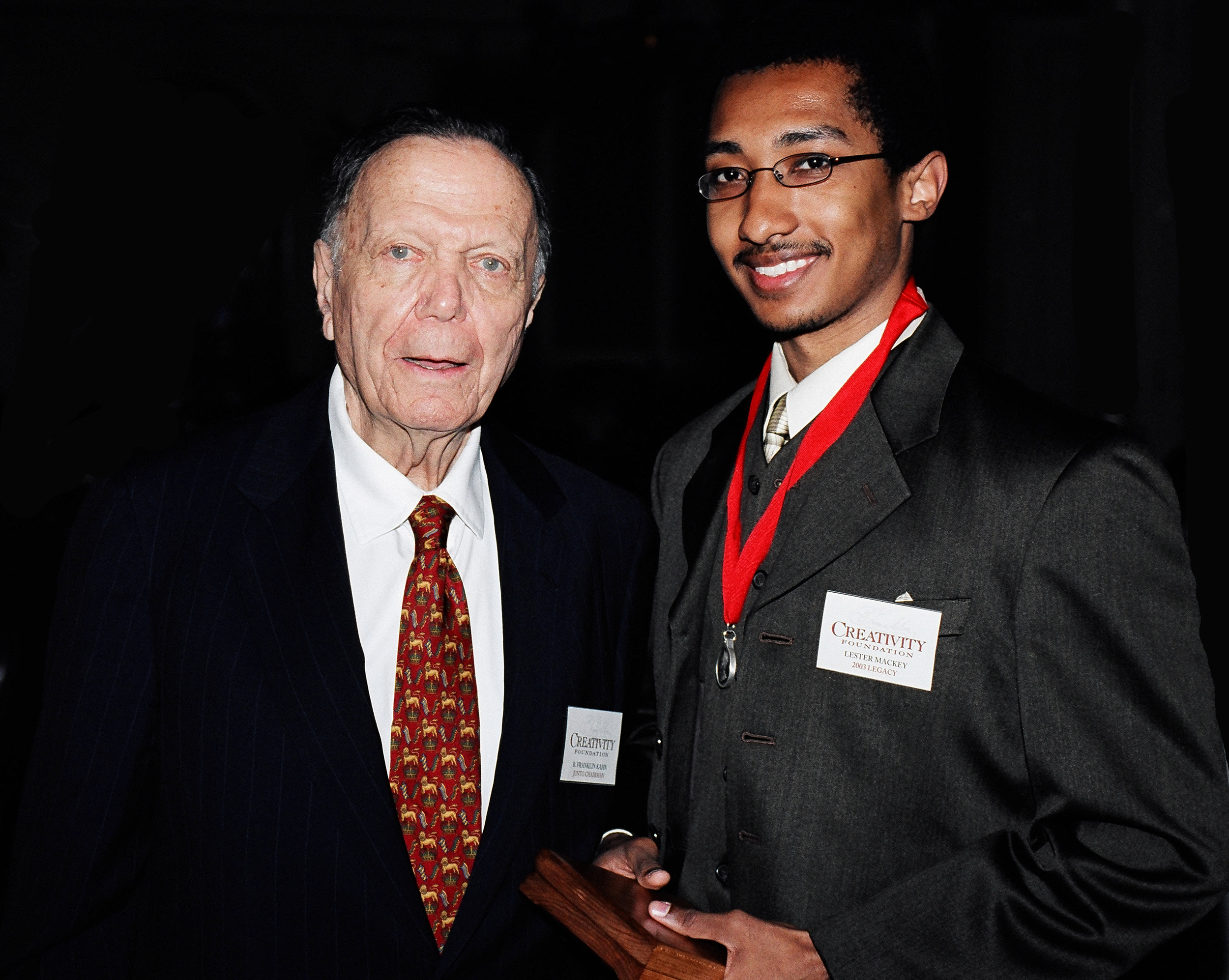 Lester Mackey with Creativity Founder B. Franklin Kahn