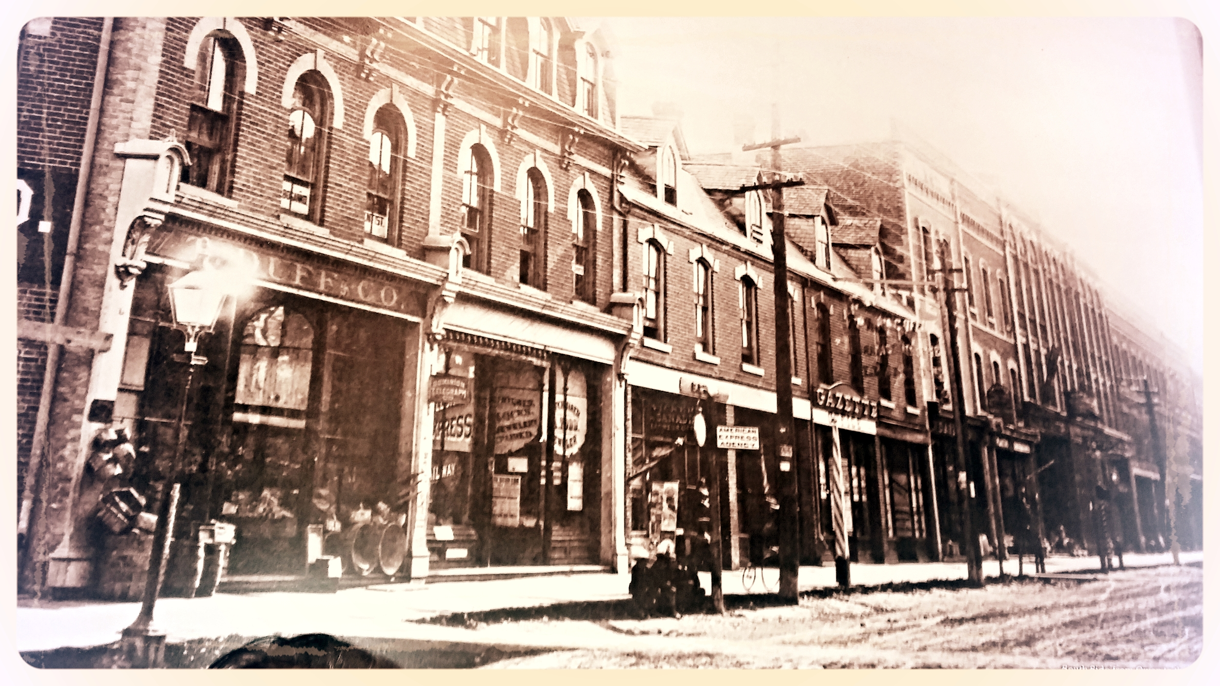 "Dunlop Street Circa 1885- HeadQuarters Salon located at ""Gazette"""