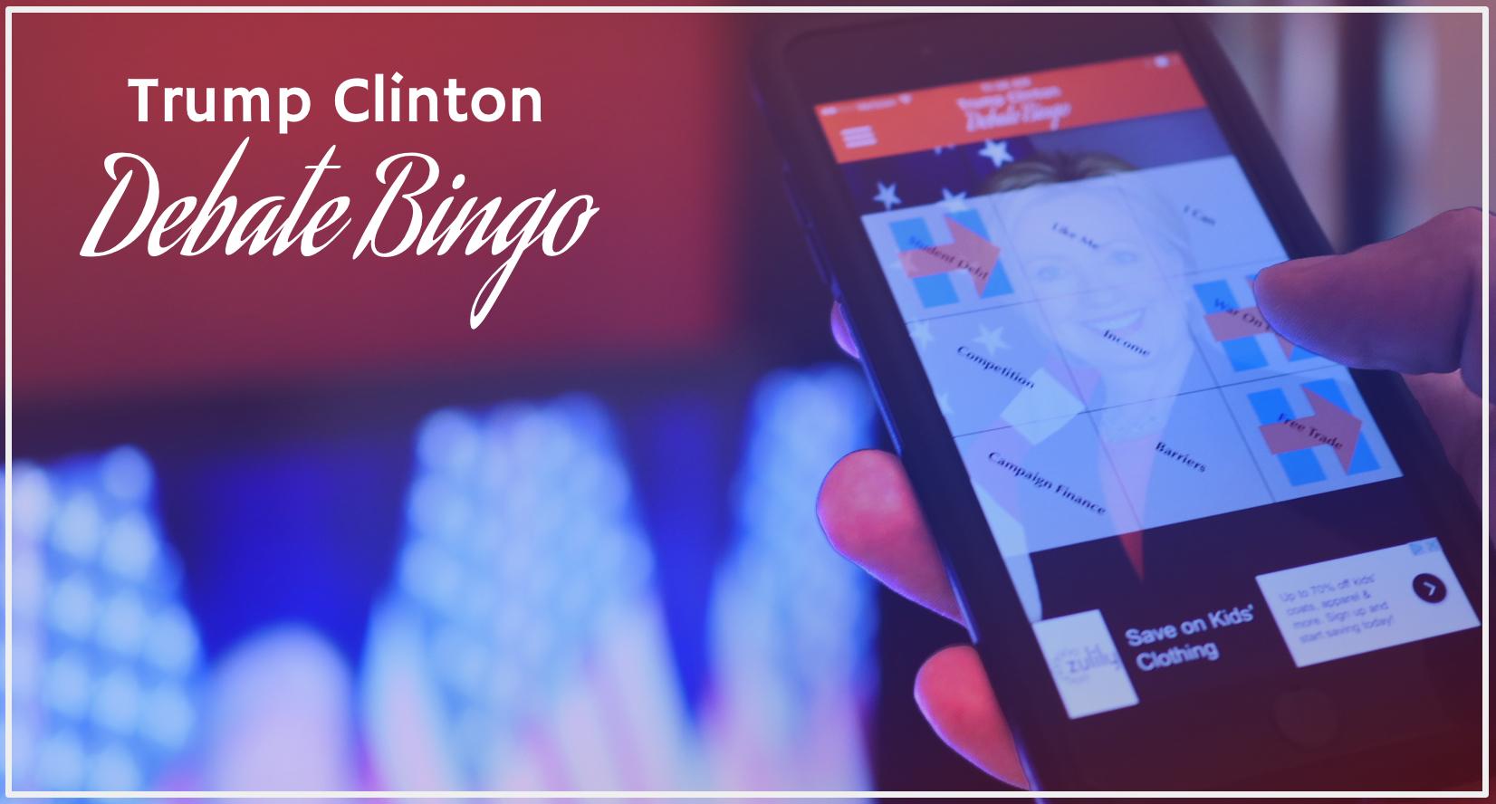 play trump clinton debate bingo app