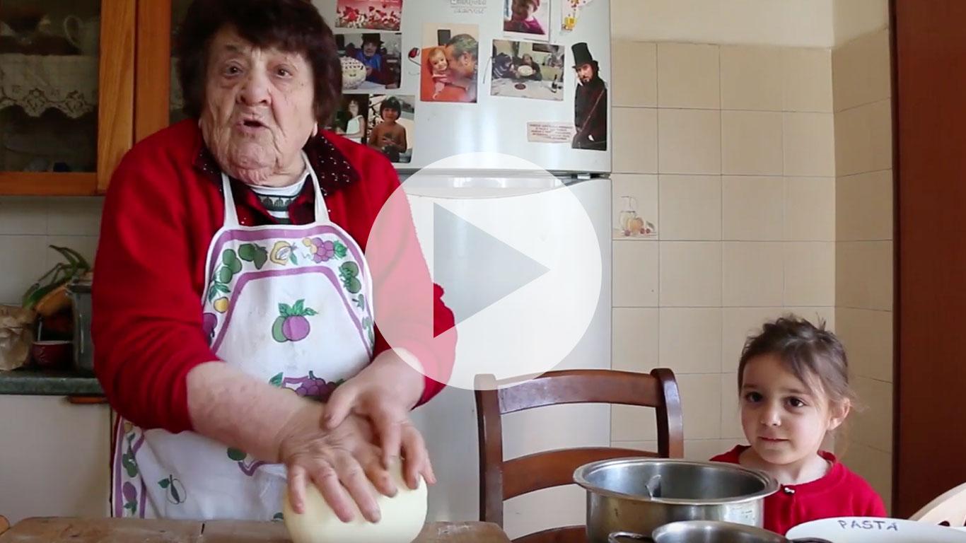 Pasta Grannies enjoys Sicilian cavati with veggies and ricotta!