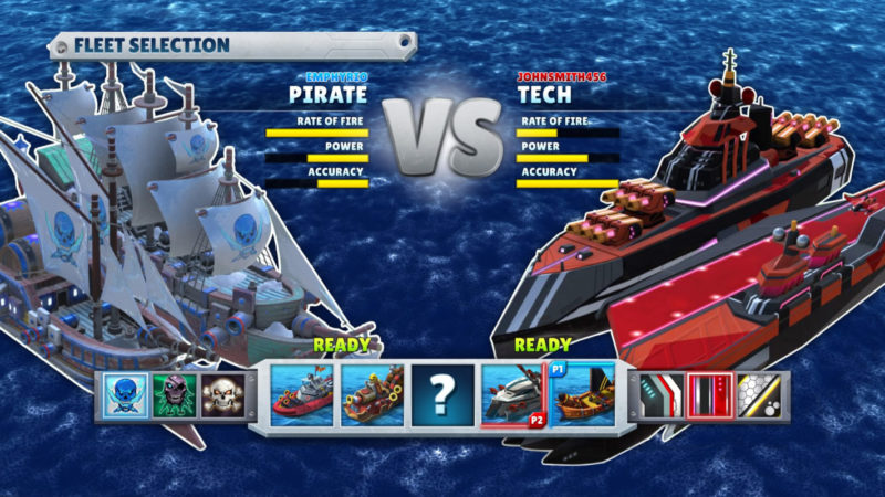 A few examples of the different ship choices.