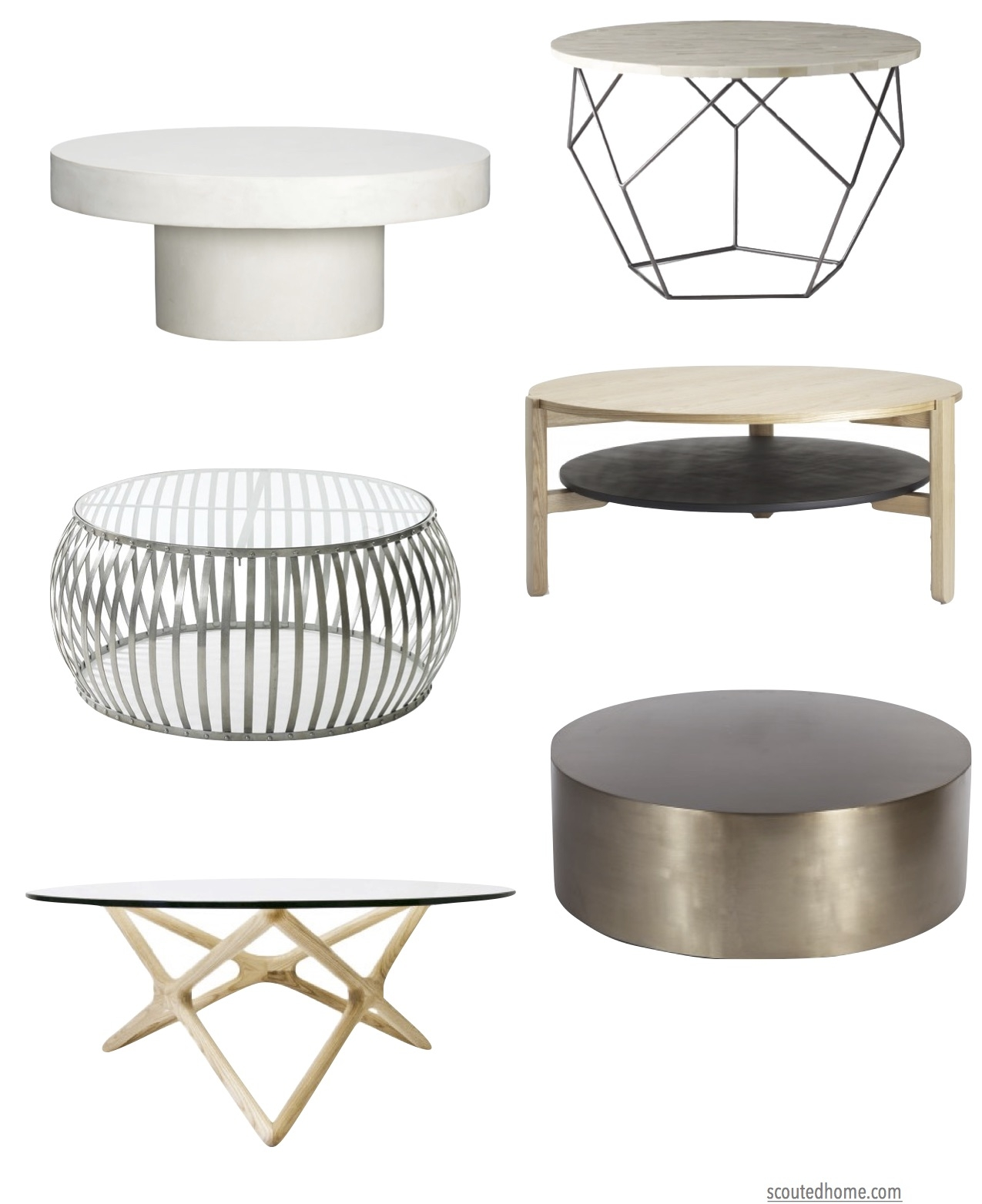 Top picks for our favorite round coffee tables
