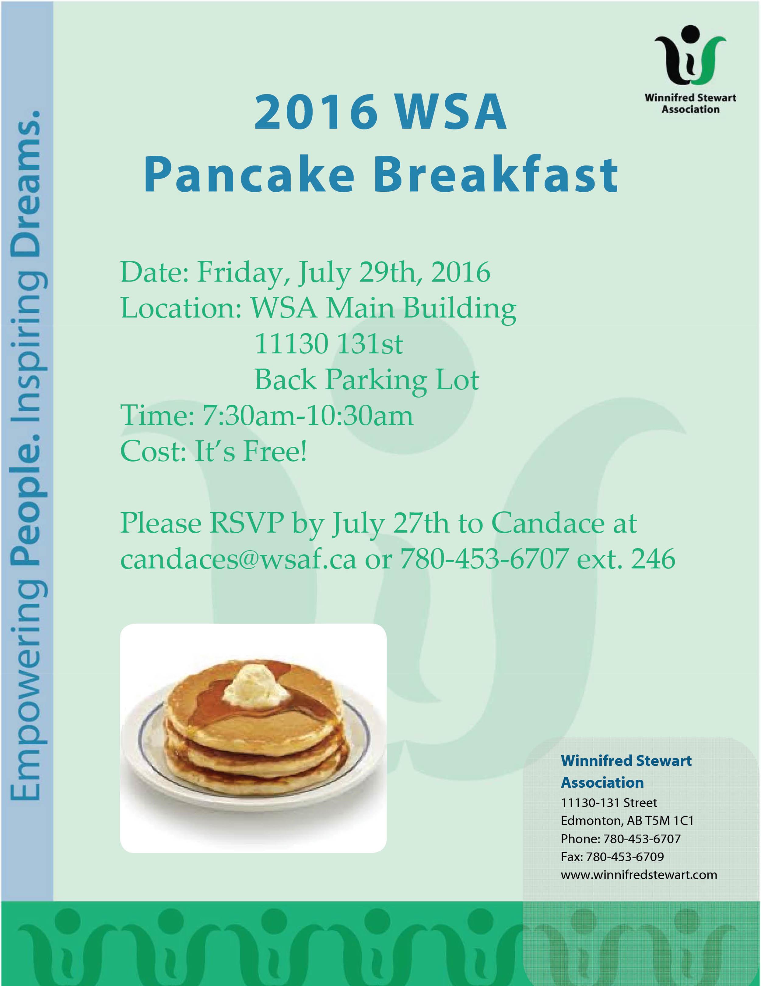 Pancake Breakfast Invite