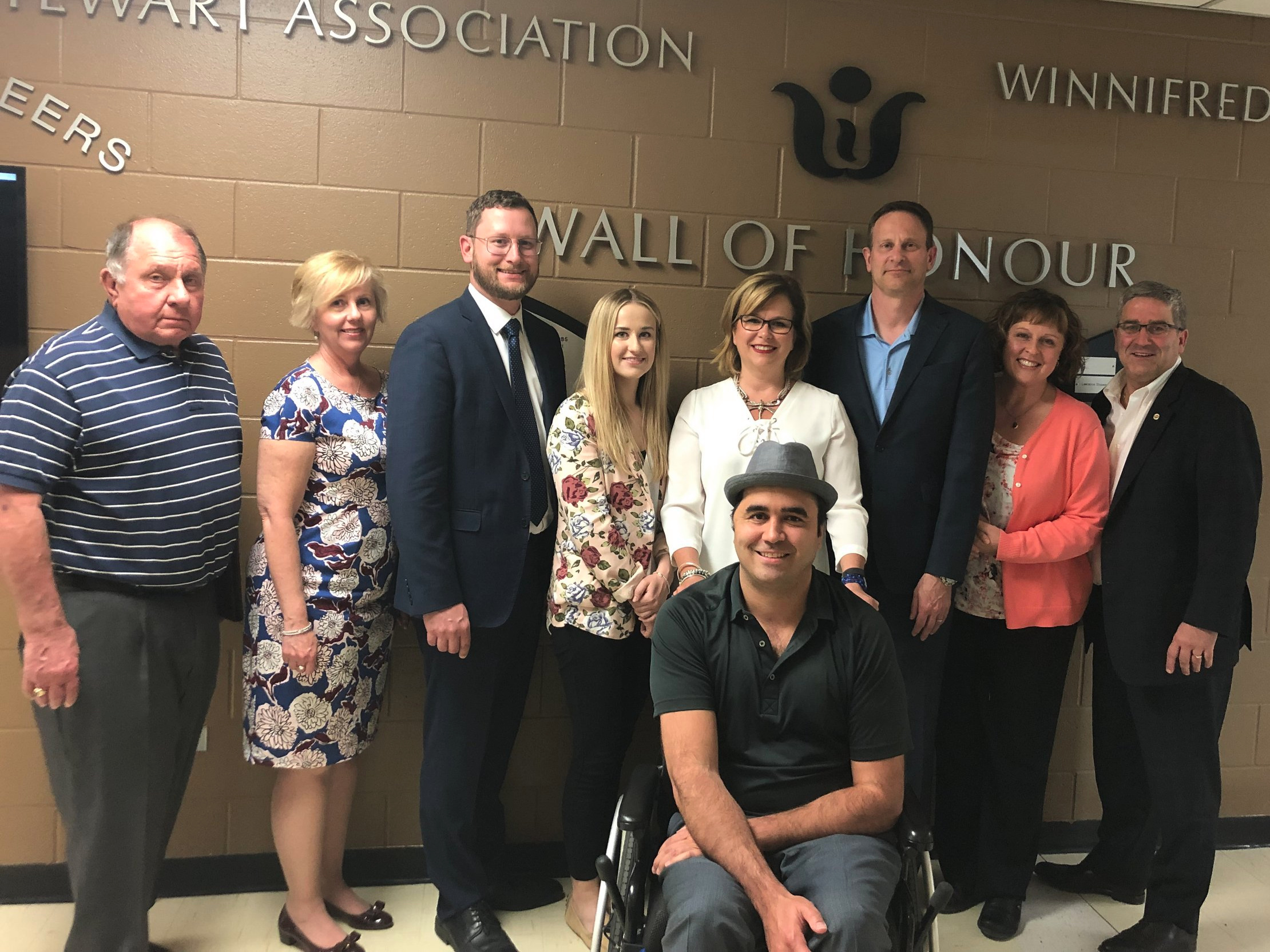 2019/2020 WSA Board Members from left: Stan Fisher, Patty Whiting, Timothy Jobs, Malinda Ivankovic, Chad Zima, Bea Bohm-Meyer, Leon Pfeiffer, Cindy Imppola, Paul Goguen (with regret: Gord Rajewski, Kevin Guile)