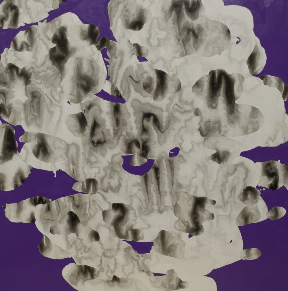 Cumulonimbus Violet 2013 acrylic, chinese ink on paper 40x40 available