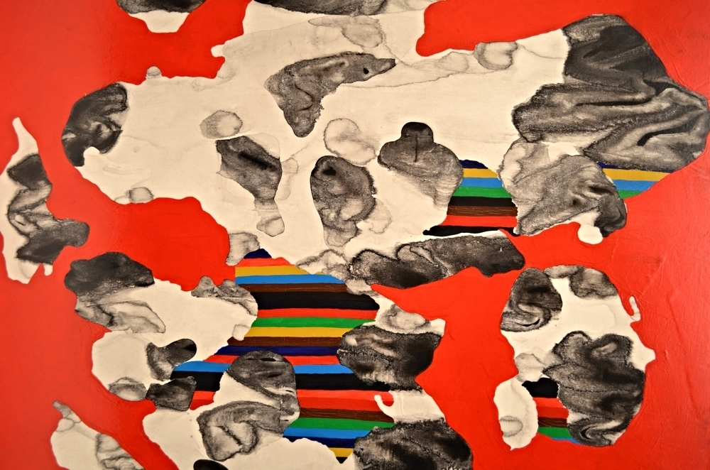 Gas Paint IV(Red) 2014 acrylic, chinese ink on paper 18x24 available
