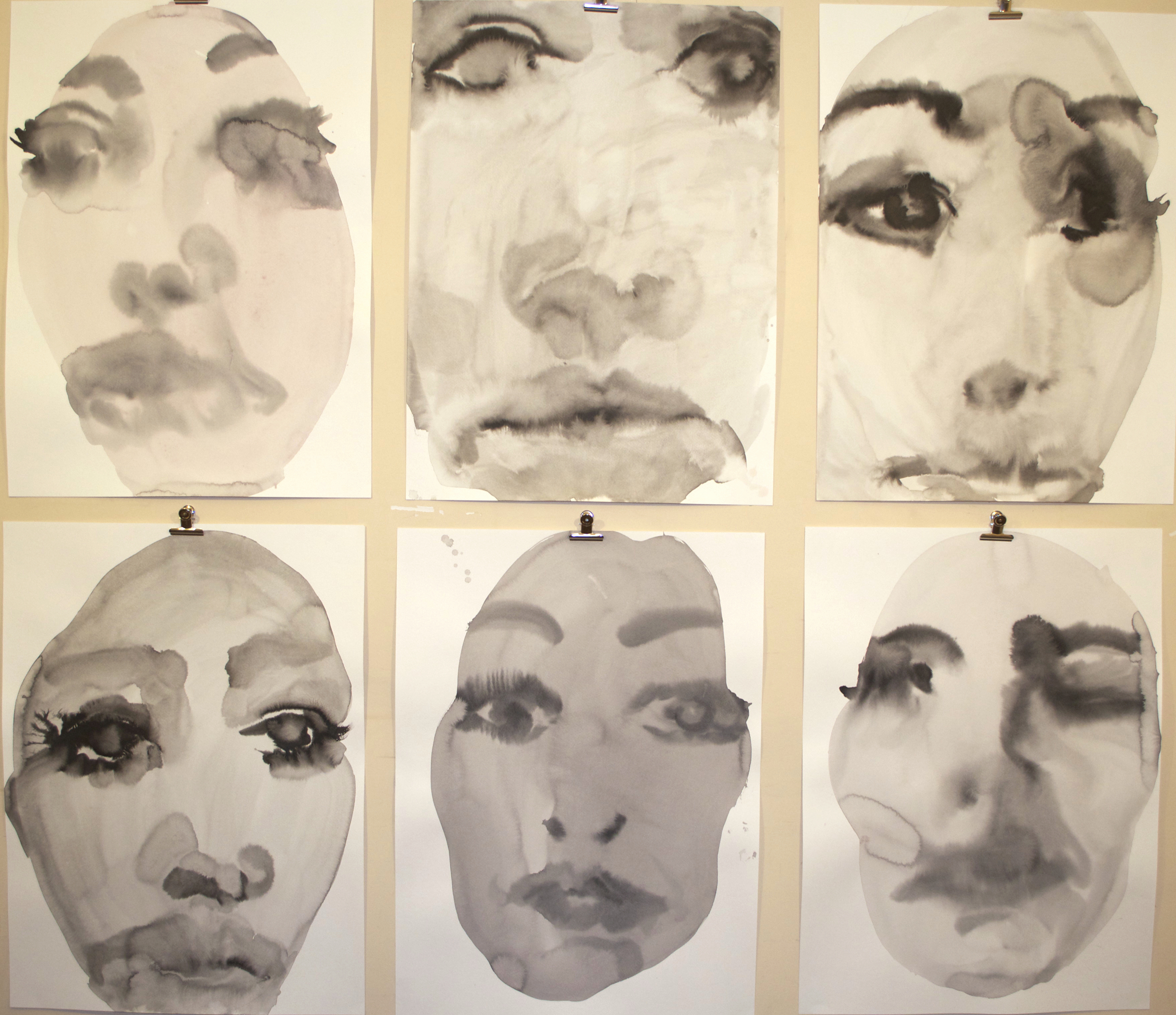 Nigella Series, started 2013-ongoing. Various materials on paper, various dimensions.