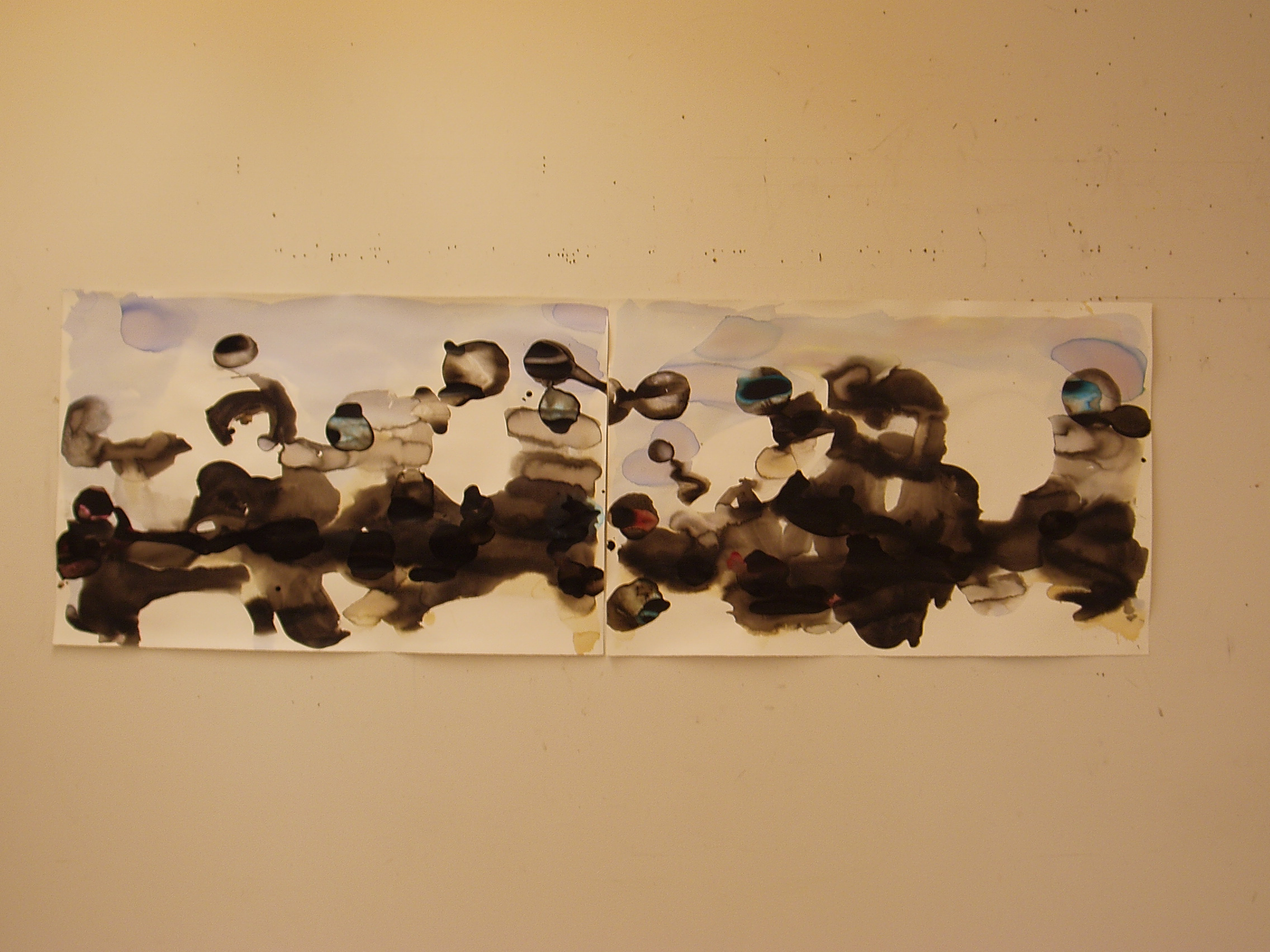 Wedding series 2009 acrylic, chinese ink on paper diptych