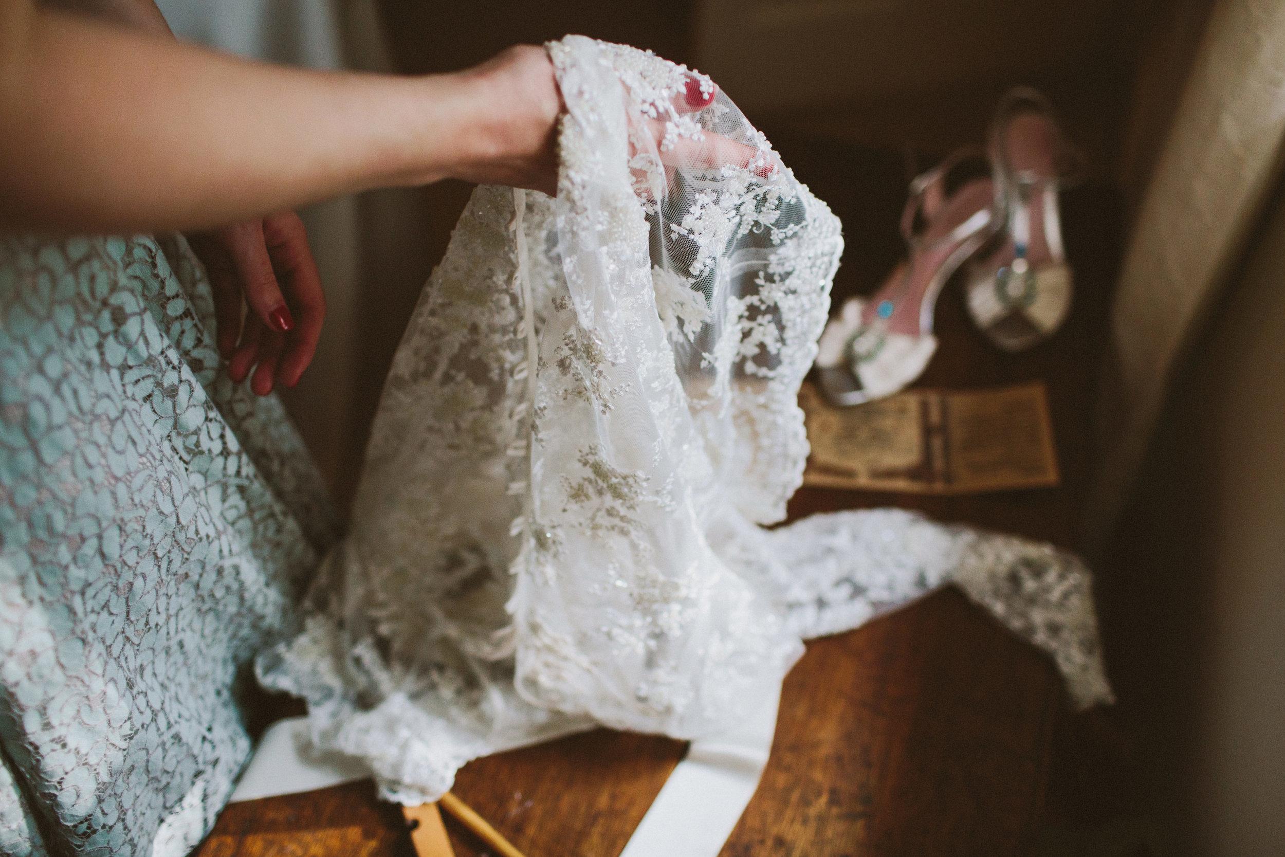 Jo-Peak-District-Autumn-Wedding-Bespoke-Vintage-Bias-Wedding-Gown-Lace-Jacket-Susanna-Greening-Matlock-6