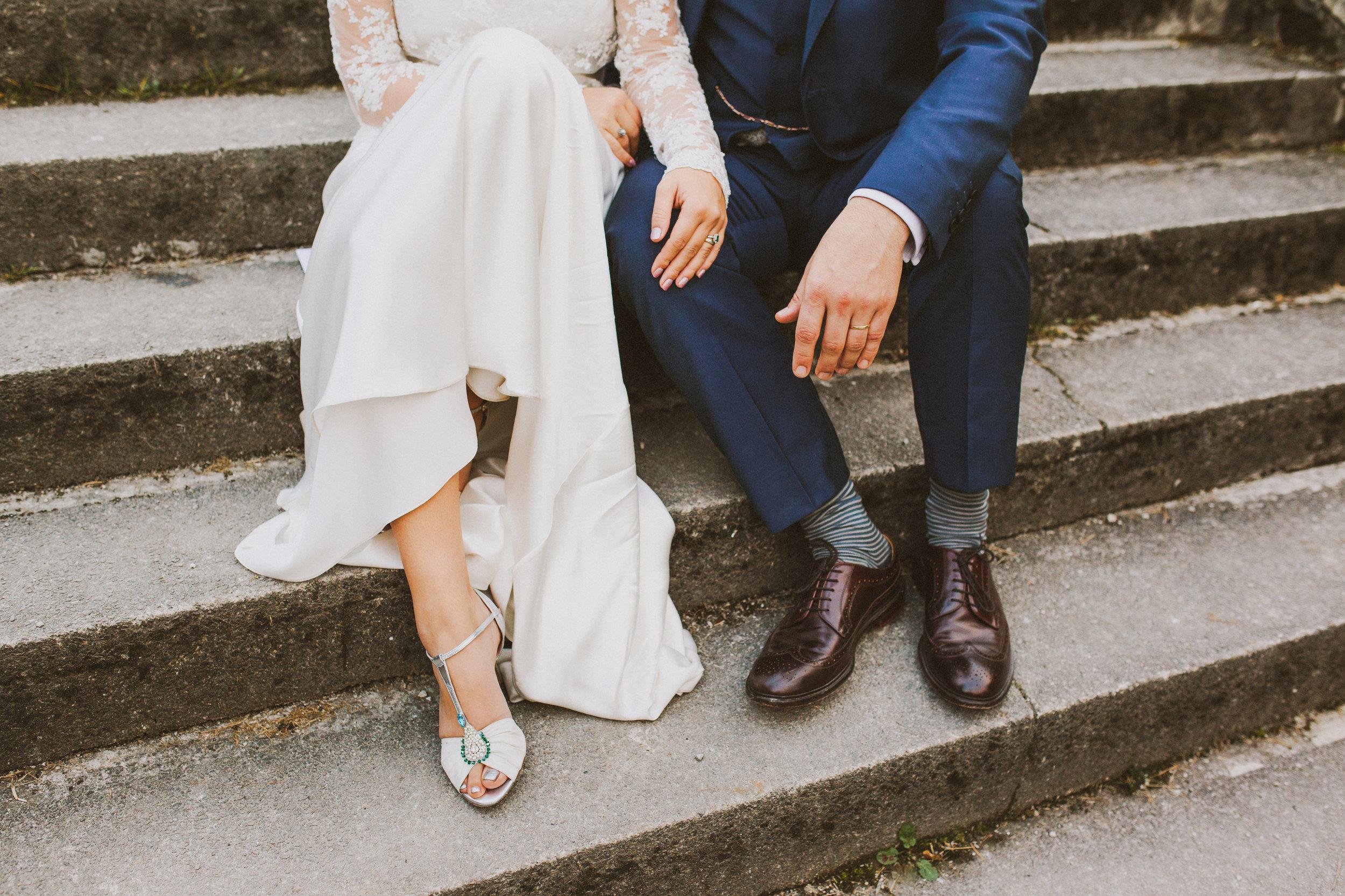 Jo-Peak-District-Autumn-Wedding-Bespoke-Vintage-Bias-Wedding-Gown-Lace-Jacket-Susanna-Greening-Matlock-15