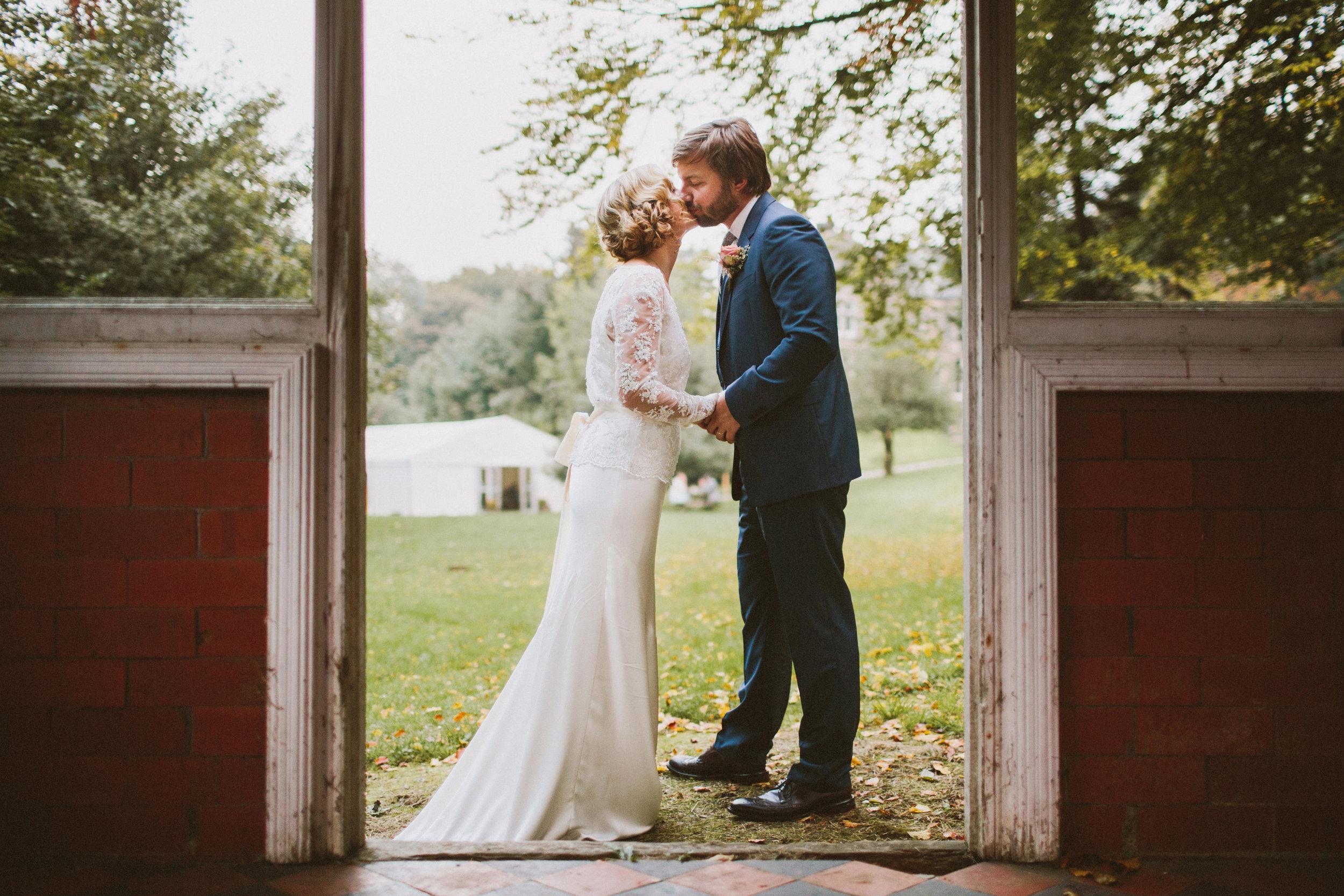 Jo-Peak-District-Autumn-Wedding-Bespoke-Vintage-Bias-Wedding-Gown-Lace-Jacket-Susanna-Greening-Matlock-18