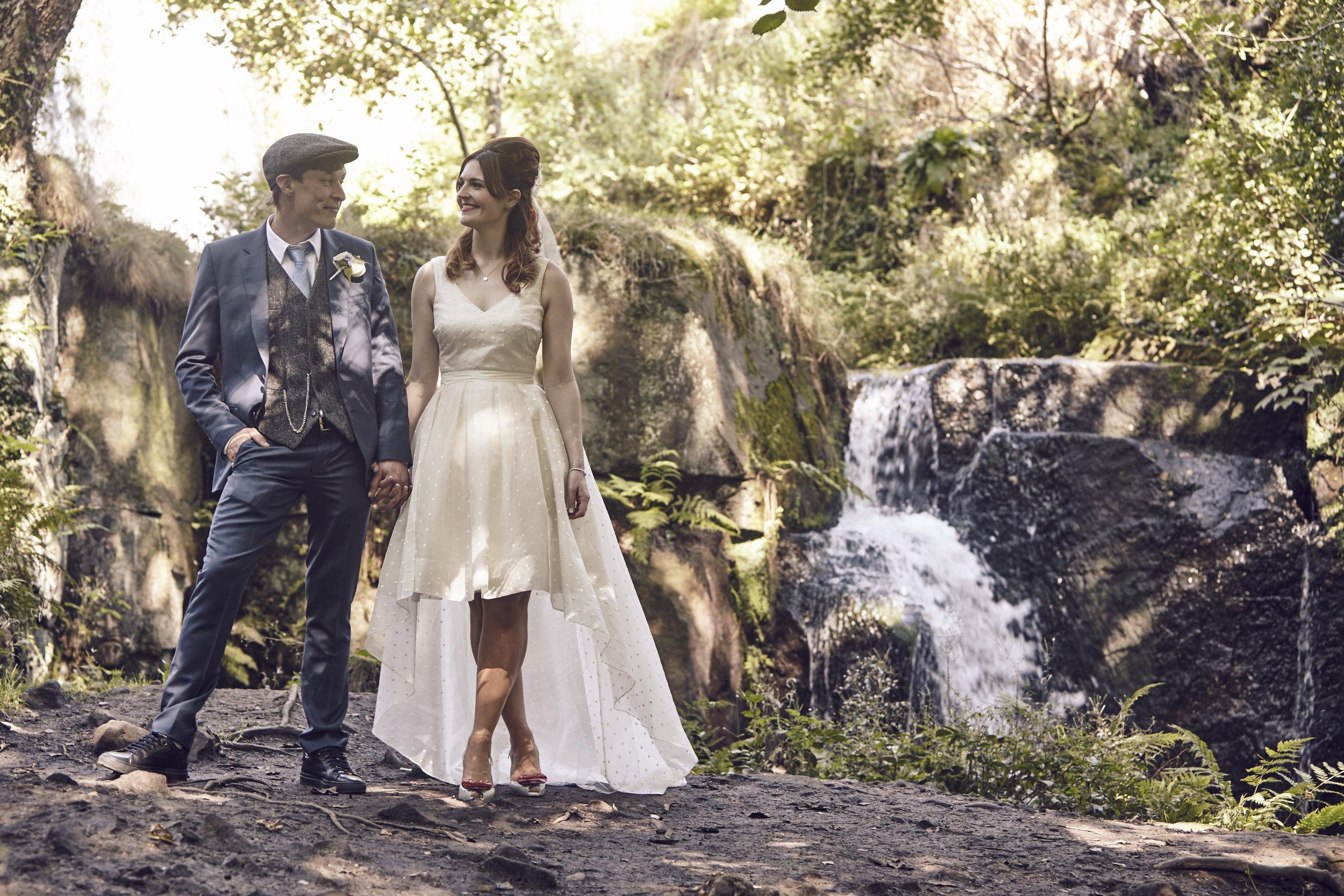 Suzi-Matlock-Polka-Dot-Bespoke-Wedding-Dress-High-Low-Susanna-Greening-Designs-Derbyshire-10