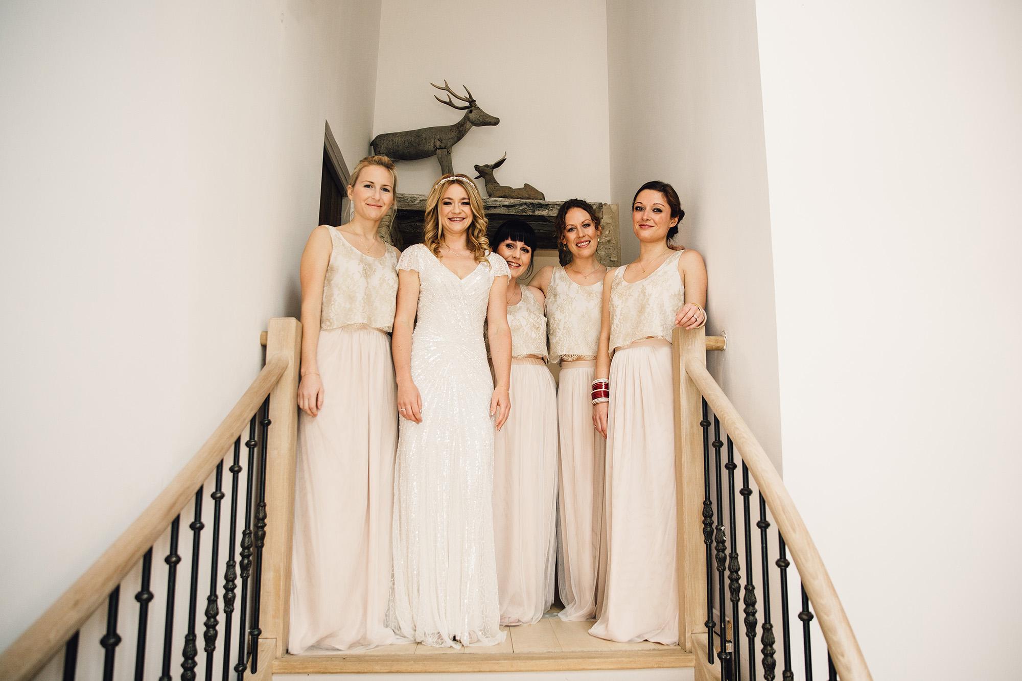 Hannah-Bespoke-Bridesmaids-Bohemian-French-Wedding-Gold-Lace-Susanna-Greening-Designs-Matlock-Derbyshire-1