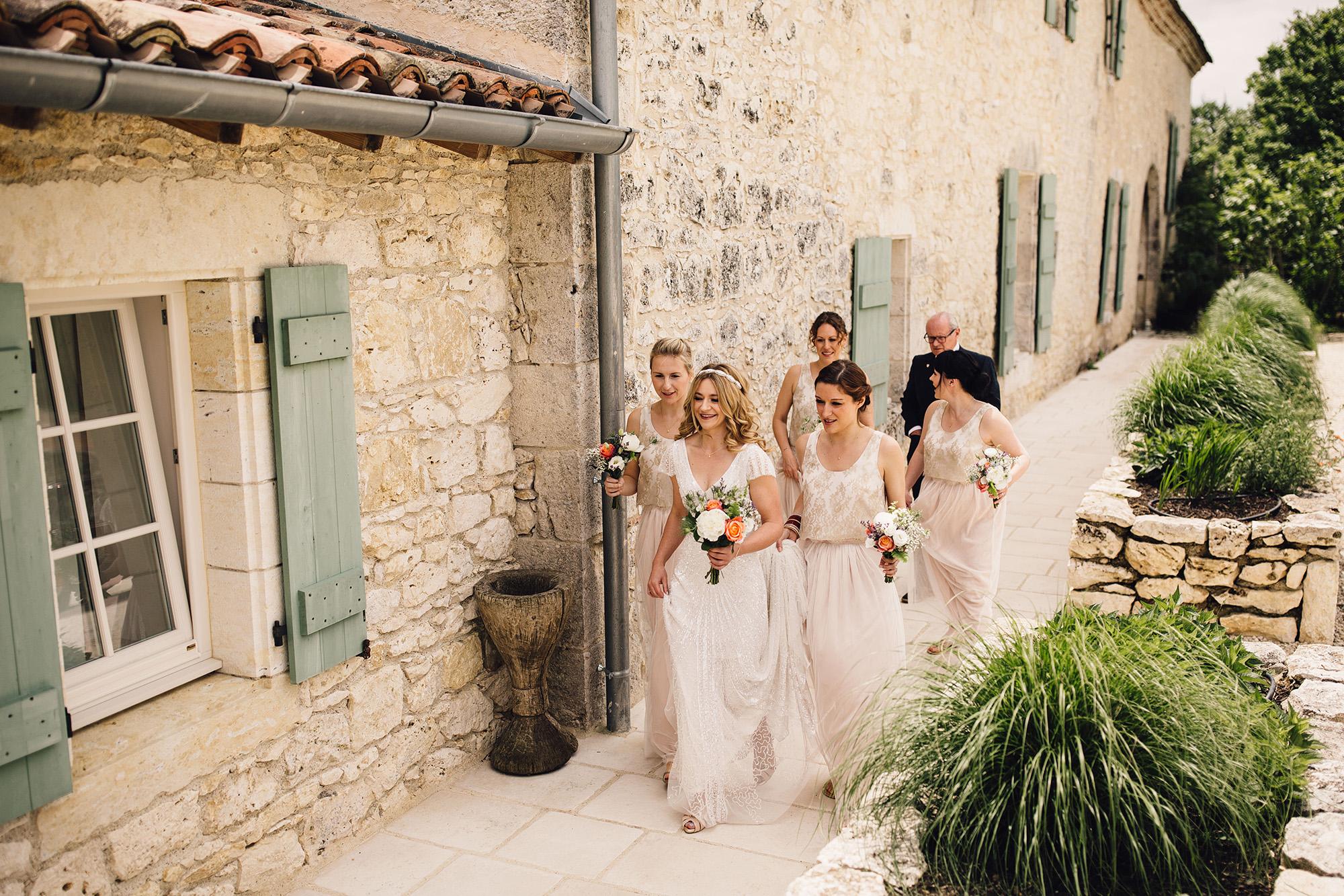Hannah-Bespoke-Bridesmaids-Bohemian-French-Wedding-Gold-Lace-Susanna-Greening-Designs-Matlock-Derbyshire-2